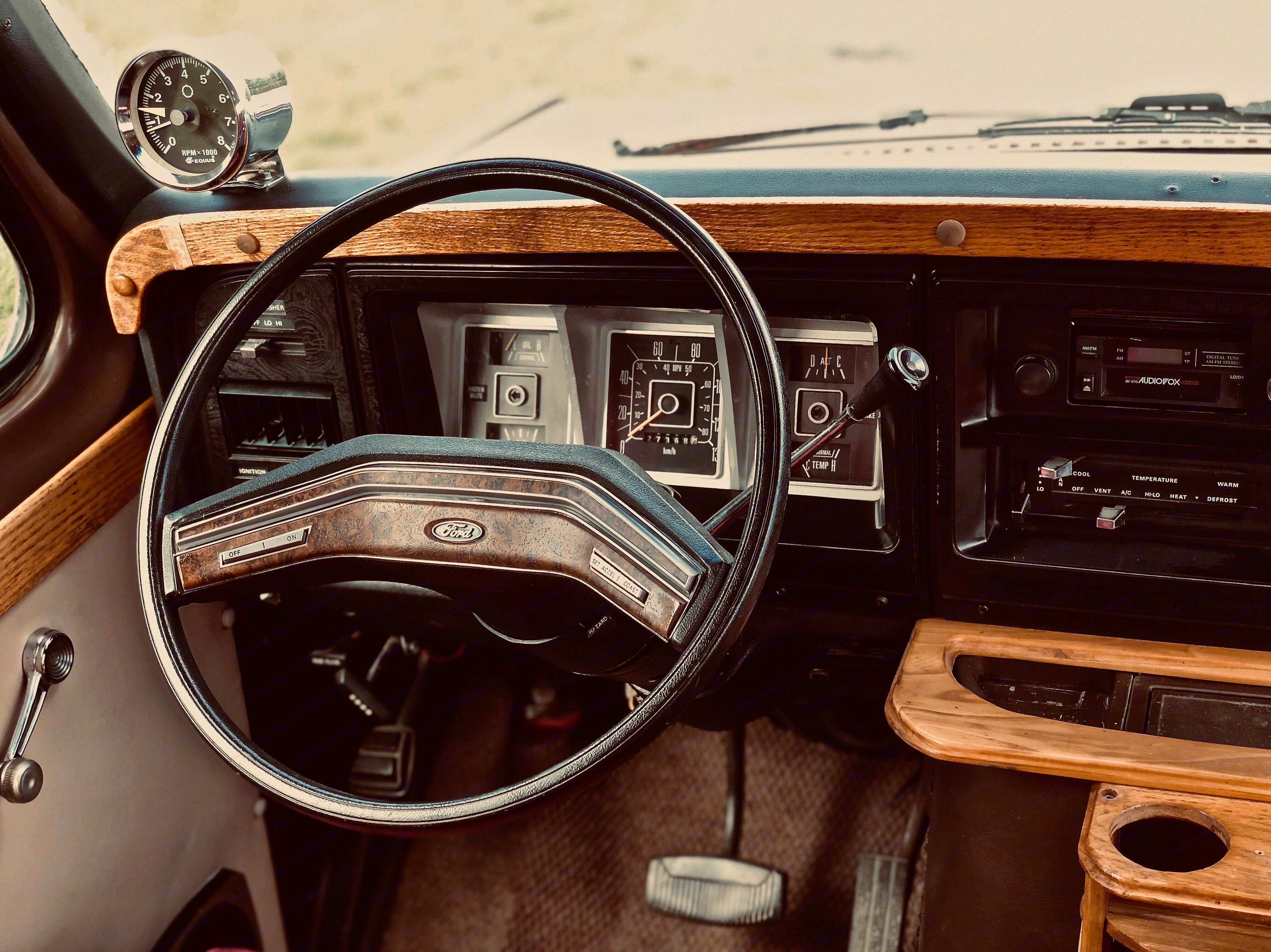 cockpit. Ford E150 Chariot Hi-Top Conversion 1979