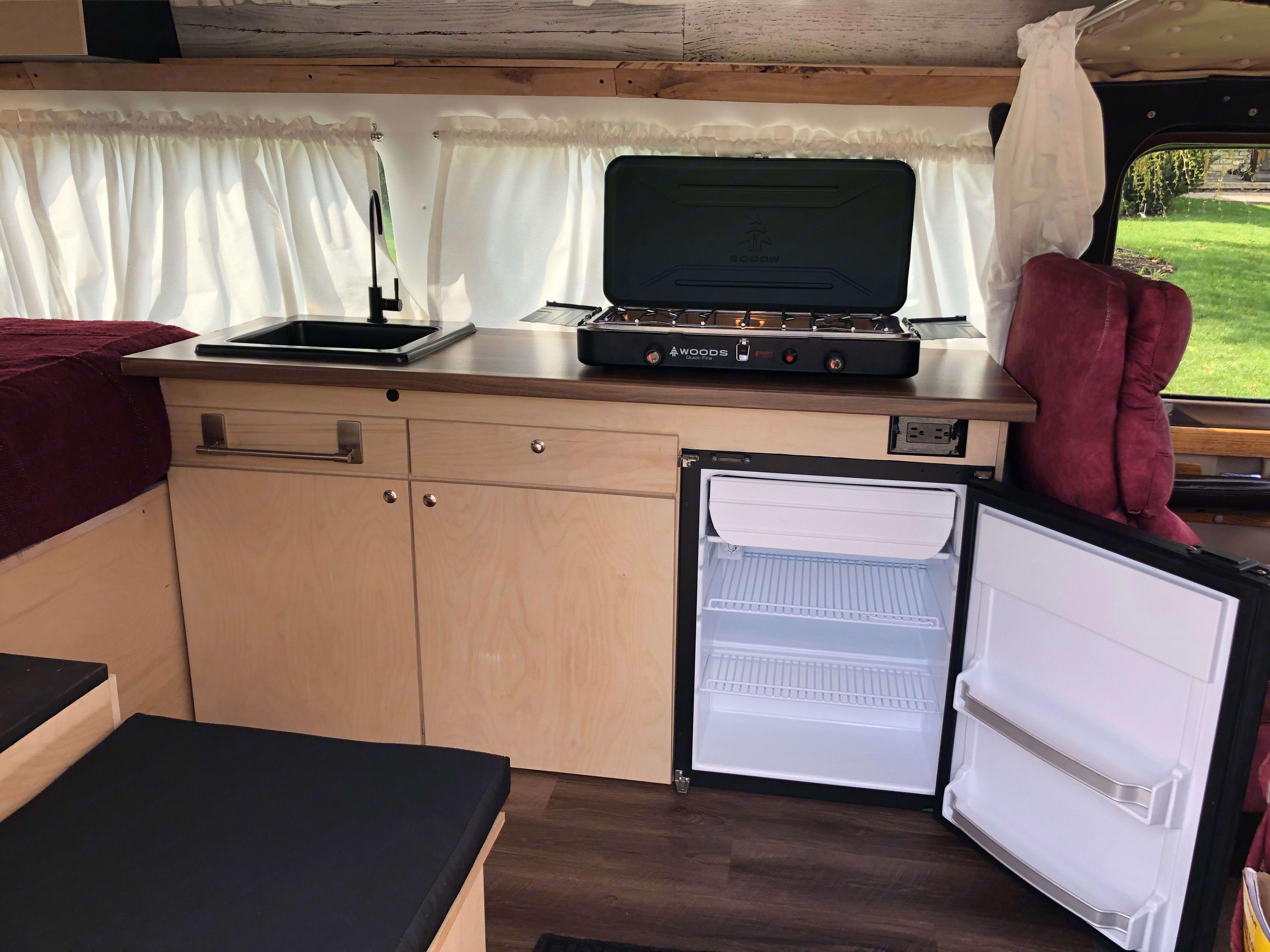 kitchen area. Ford E150 Chariot Hi-Top Conversion 1979