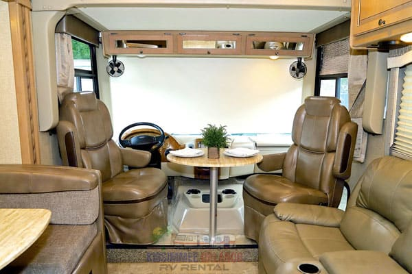 Swivel captain's chairs with table. Thor Motor Coach Windsport 2018