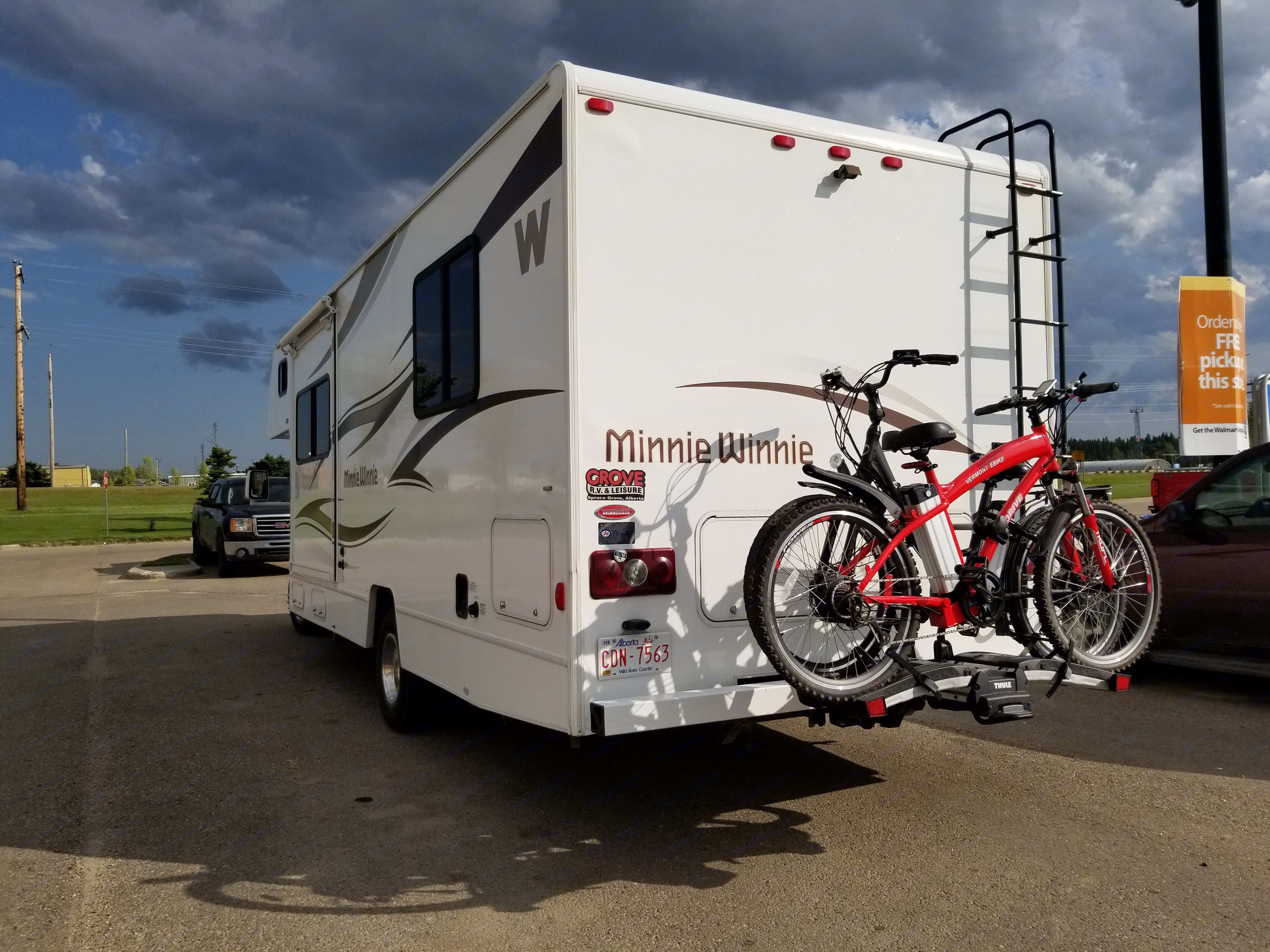 Bike Carrier F available at additional cost of $100. Winnebago Minnie Winnie 2015