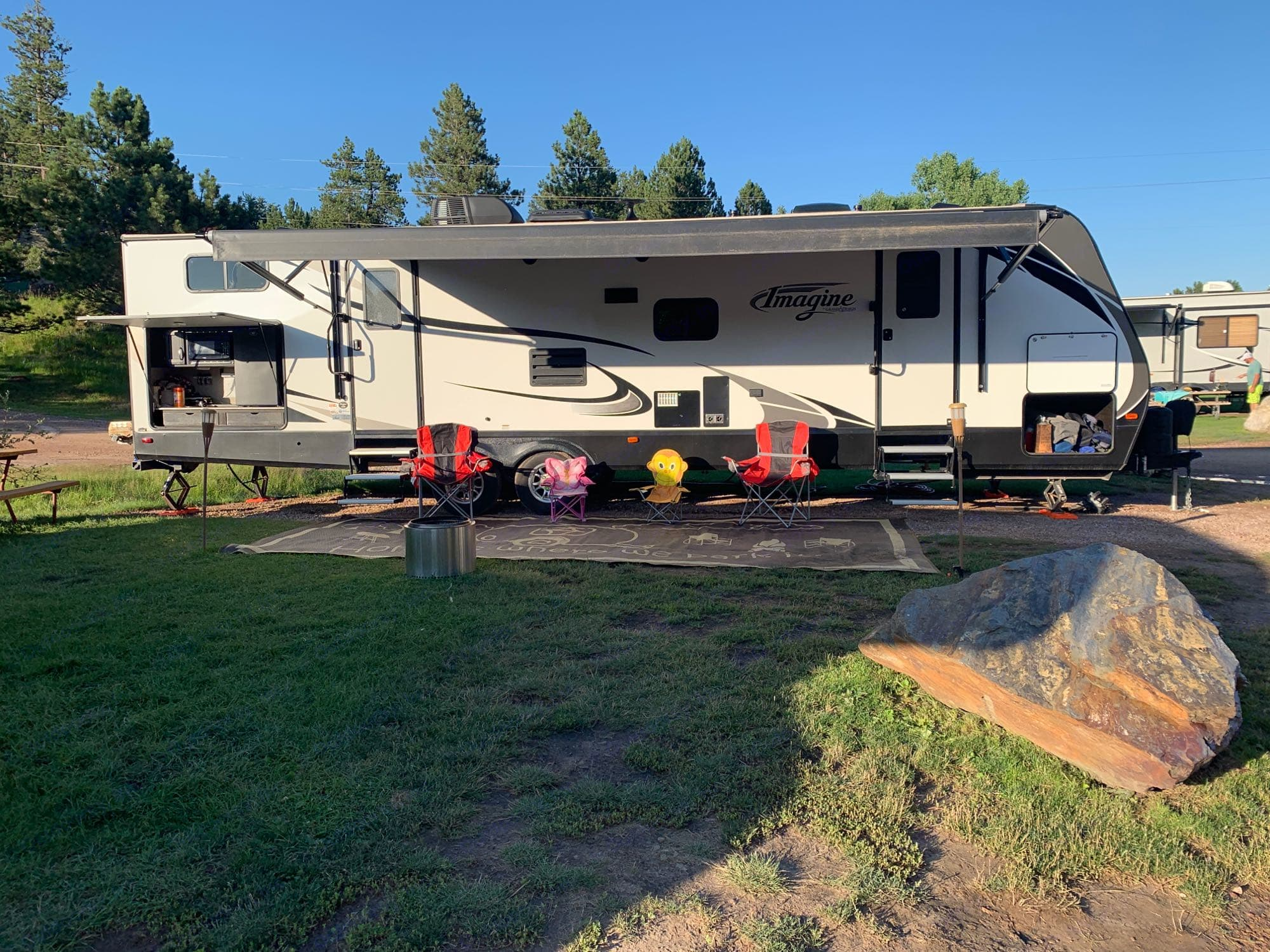 8 chairs (only 4 in picture), huge camping mat, fire pit, tiki torches and lots and lots more!!!. Grand Design Other 2019