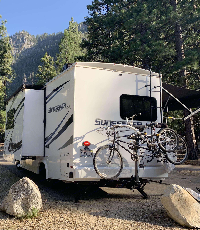 Bike Rack. Forest River Sunseeker 2019