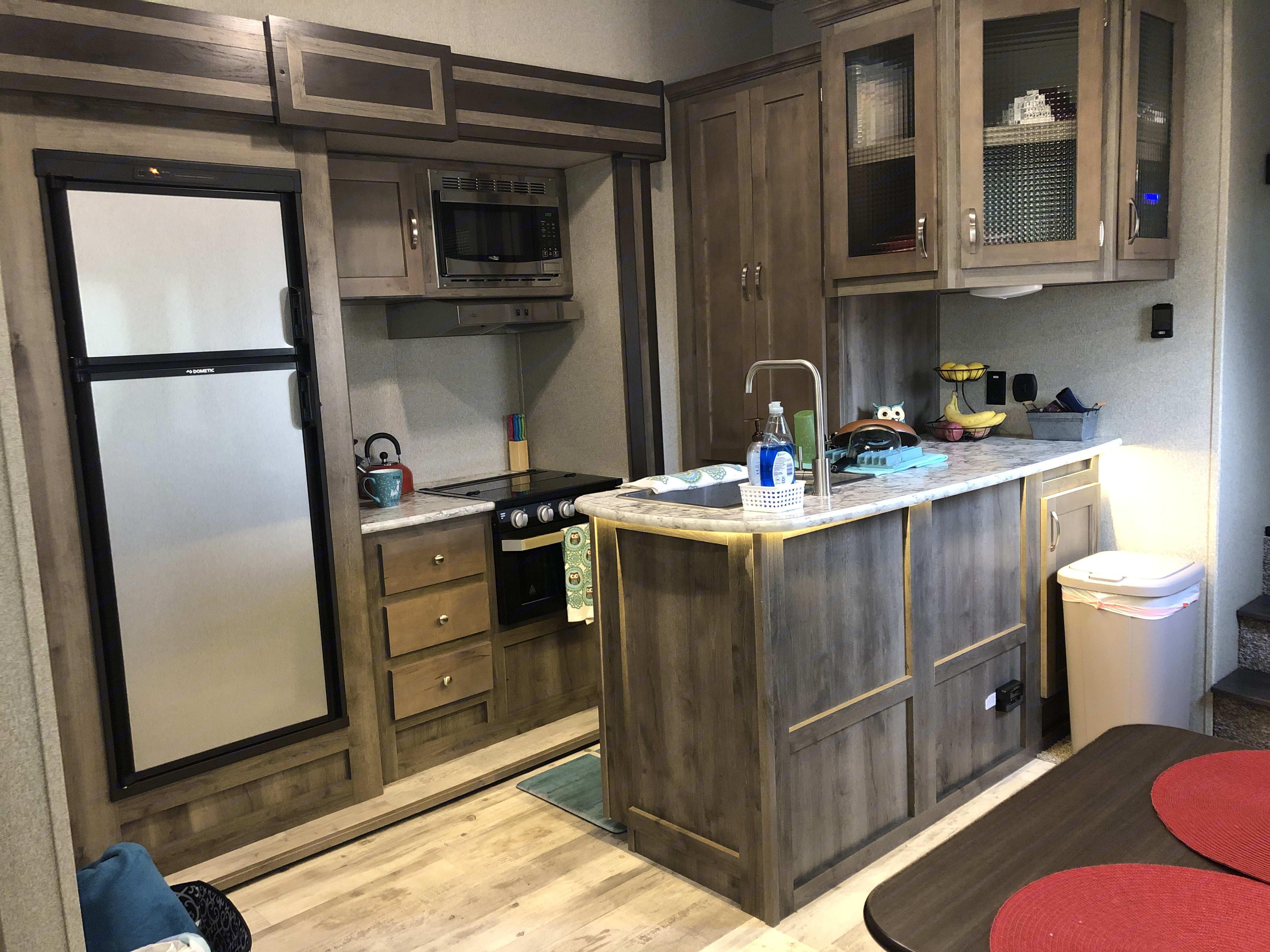 Fully stocked kitchen . Keystone Sprinter 2019