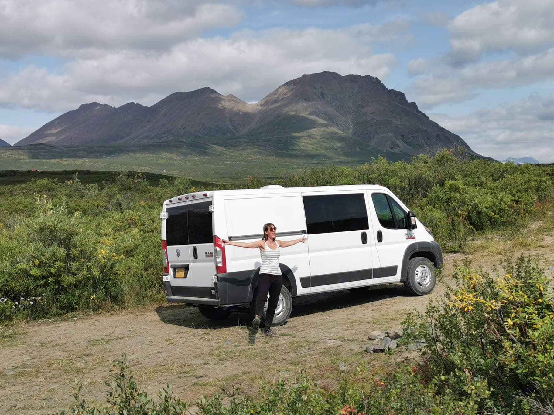 Happy renter finding her stoke!. RAM Promaster 1500 2016