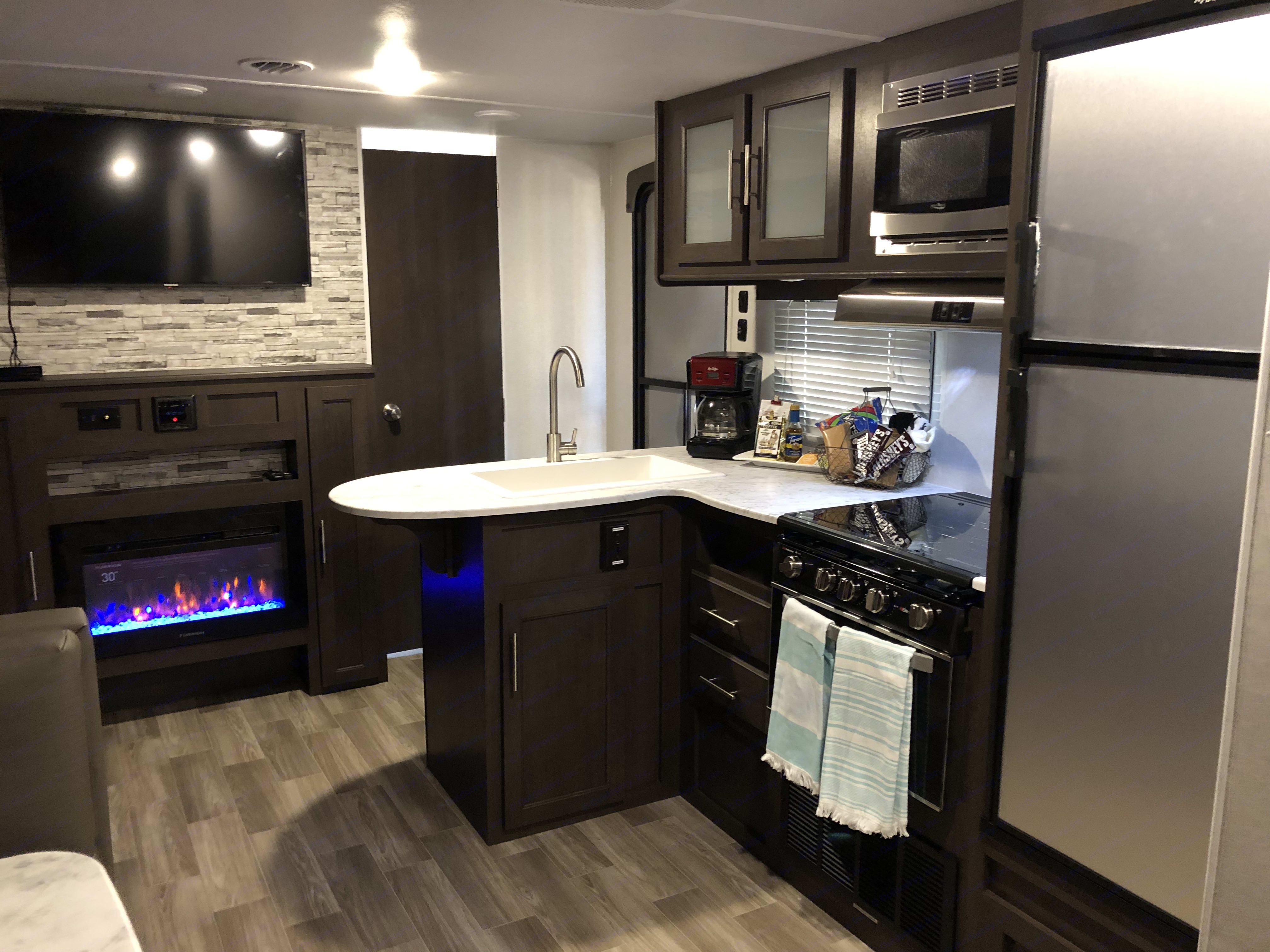 Kitchen area . Forest River Wildwood 2020