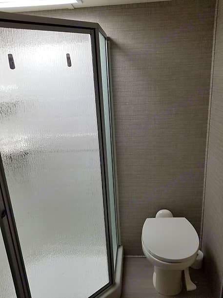 Stand up shower with plenty of room. Dutchmen Voltage 2016