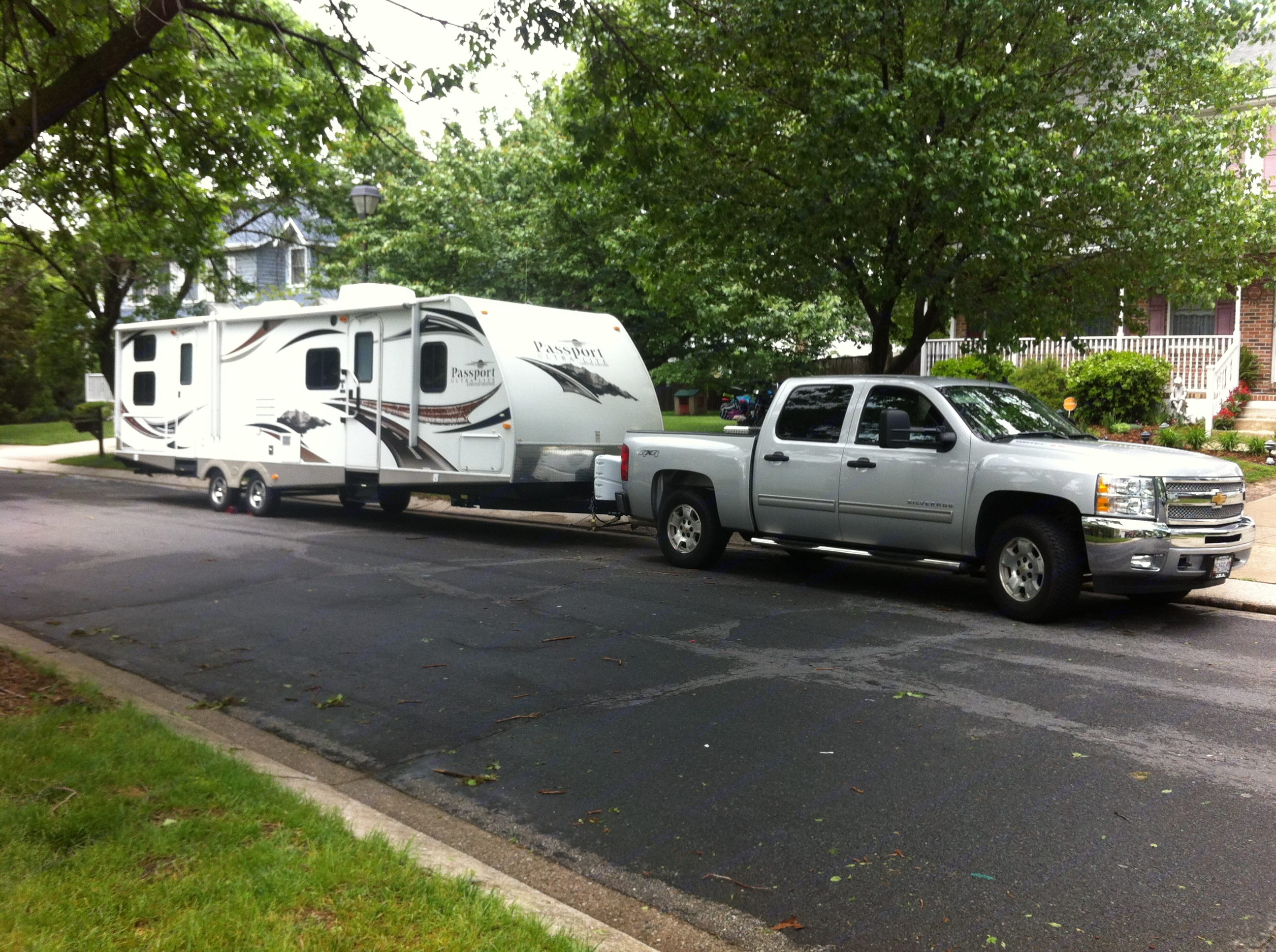 Towable with many 1500 series pickups/SUVs (depends on your GVWR, tow capacity and passenger/cargo loads.). Keystone Passport 2011