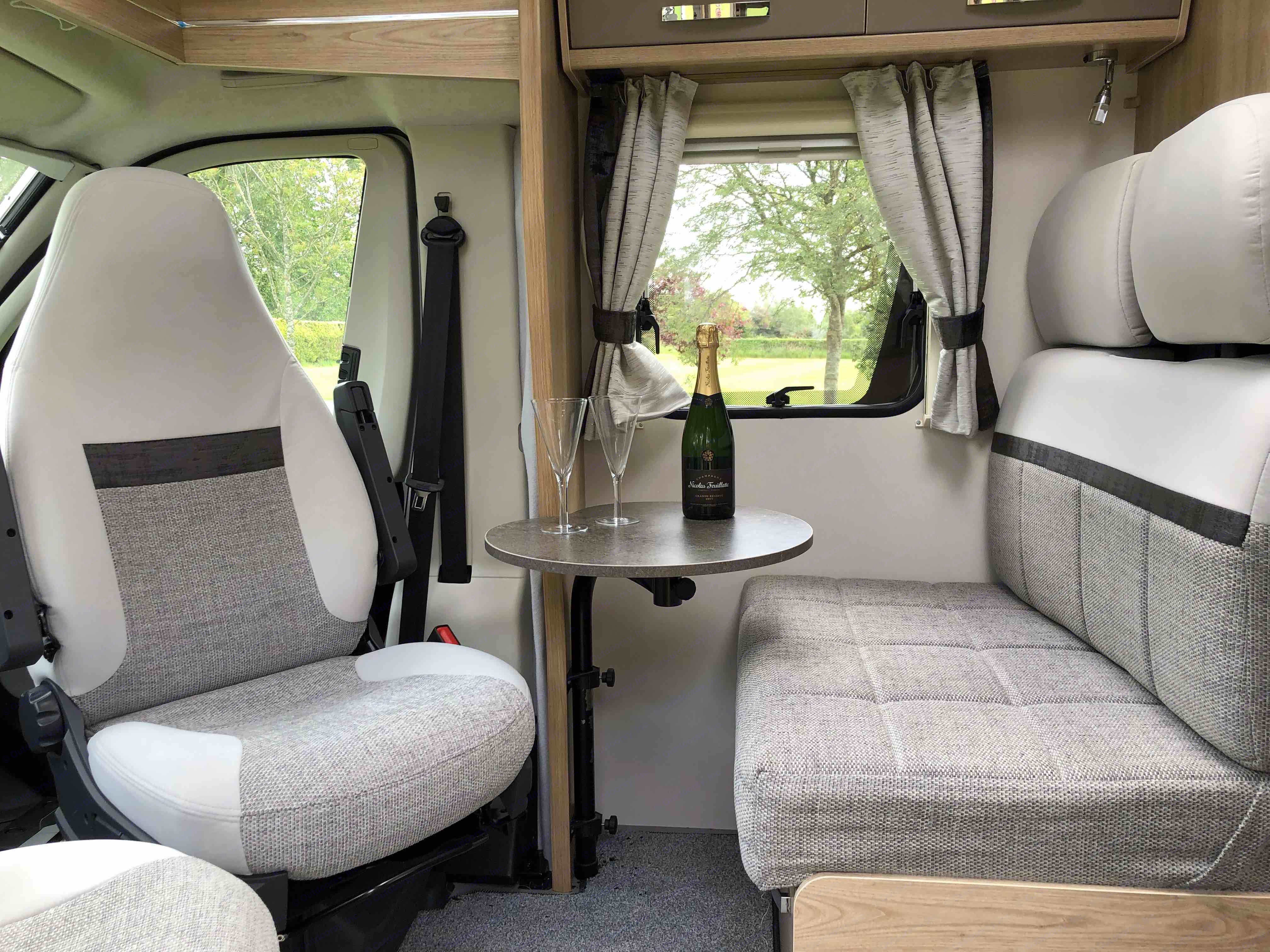 The front lounge is quickly converted to a lovely seating area which means if you like you can leave the beds set-up in the rear. Here also, if needed, you will find the third bed.. Elddis Accordo 135 2019