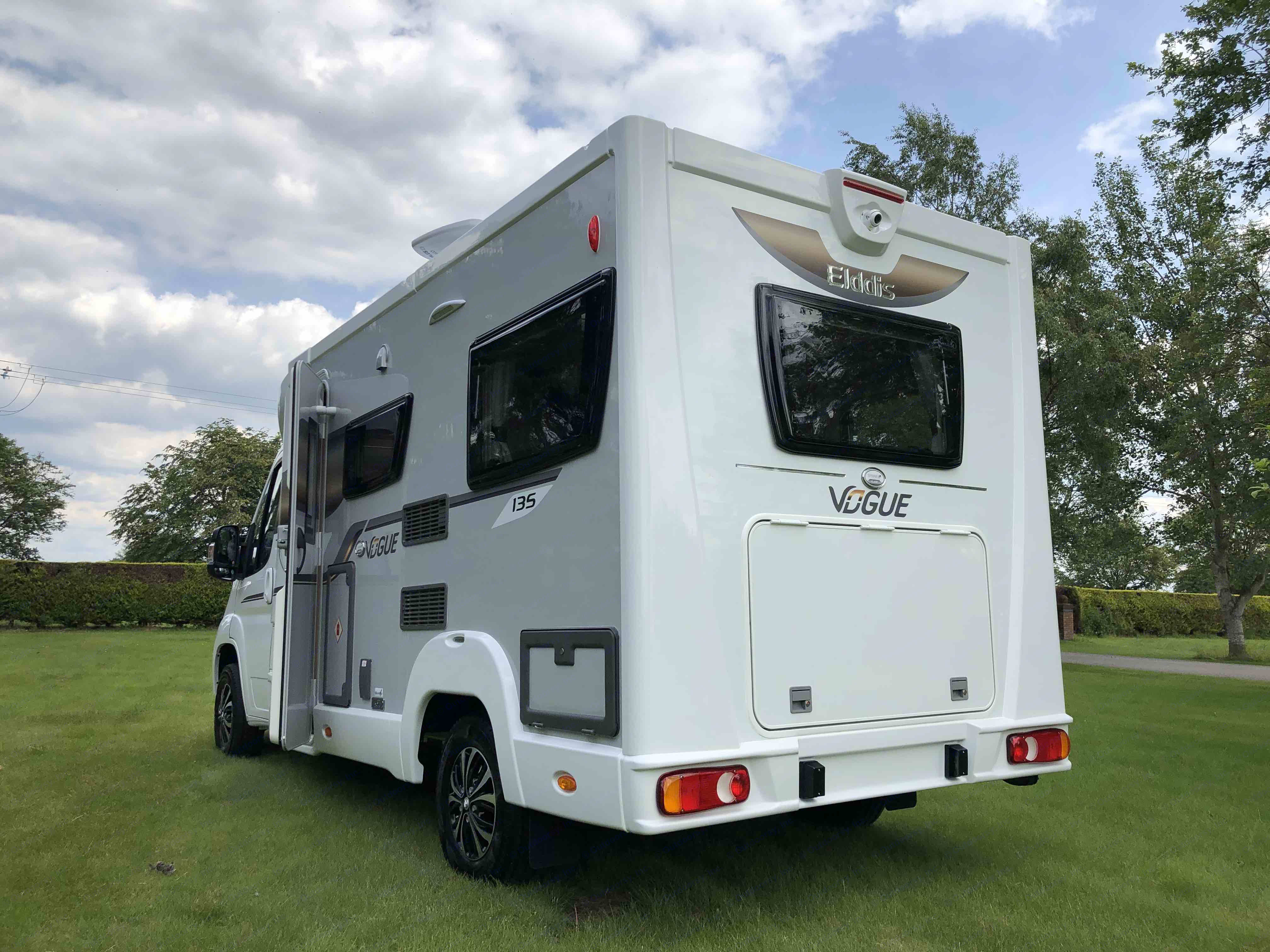 The rear opening hatch makes loading up a breeze.. Elddis Accordo 135 2019