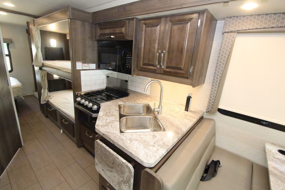 This is the kitchen, where all the good cooking will happen.. Jayco Greyhawk 2019