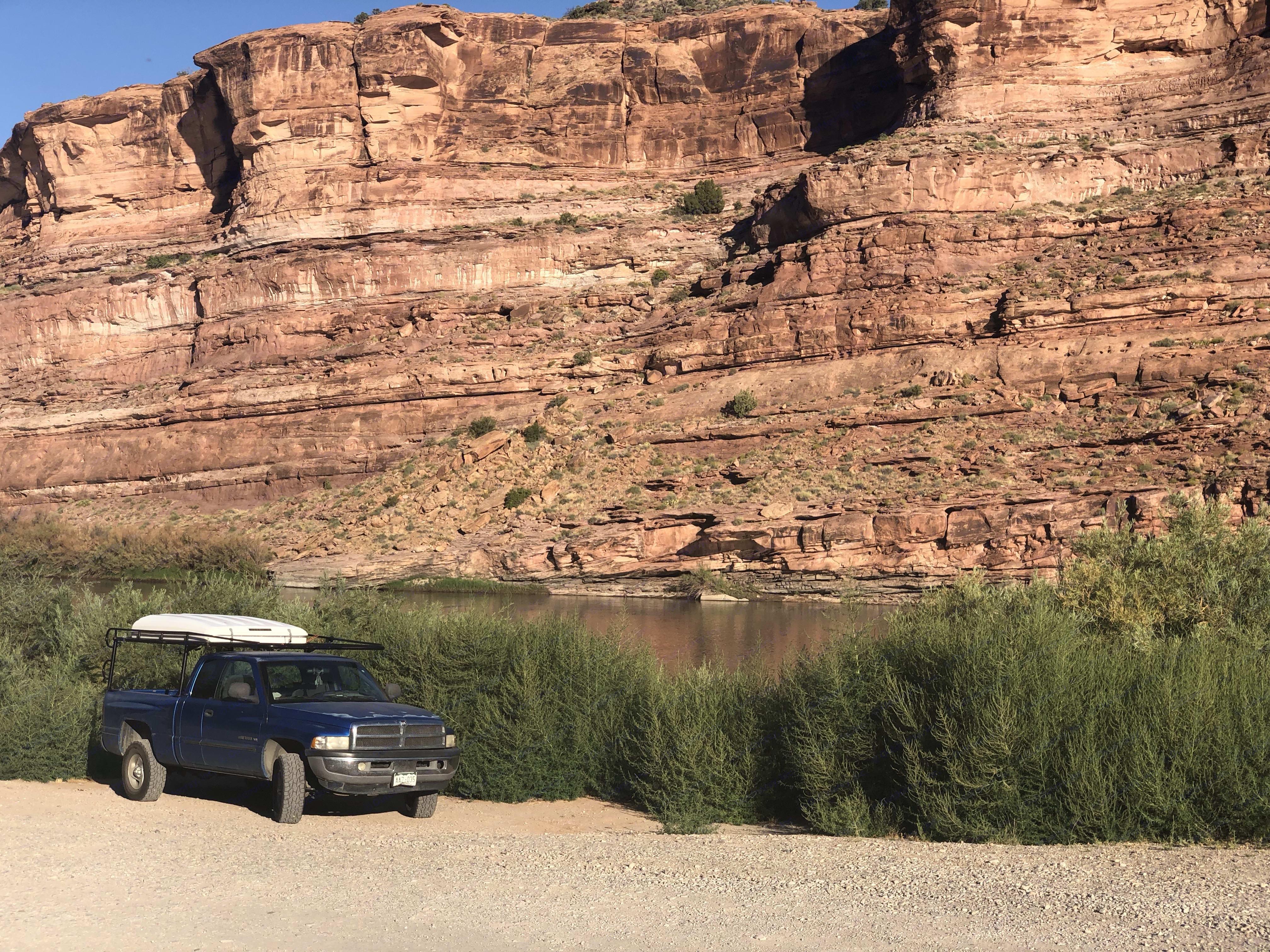 Colorado river near Moab in Utah. dodge ram 1500 2001