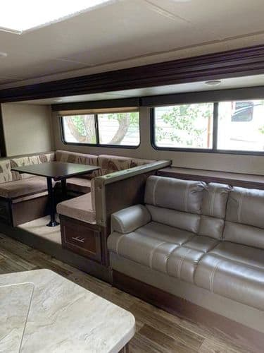 Large Main Slideout with Dinette and Couch!. Forest River Patriot Edition 2017