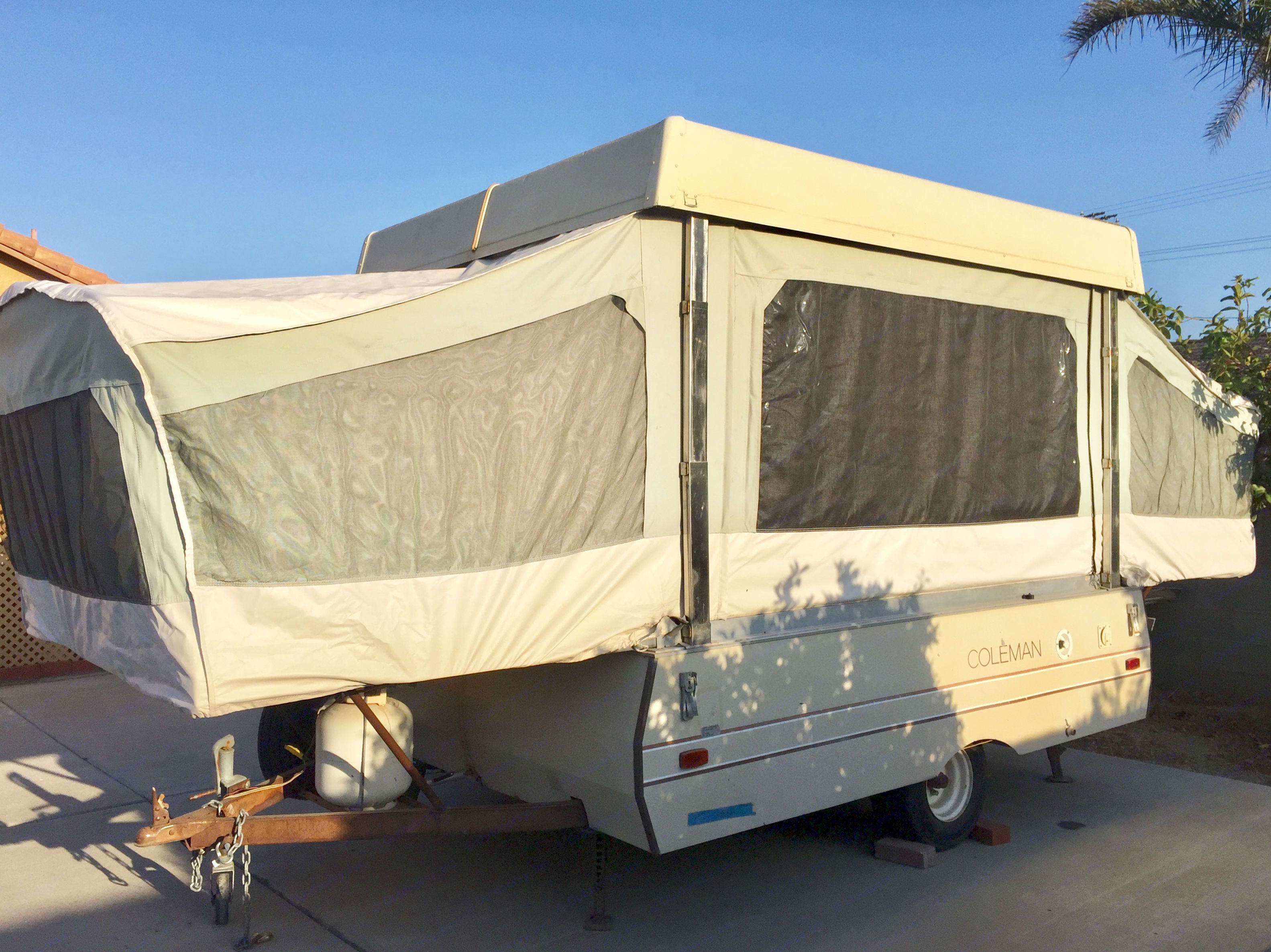 New canves with windows all around! Giving you a beautiful 360 view of your surroundings.. Coleman Other 1984