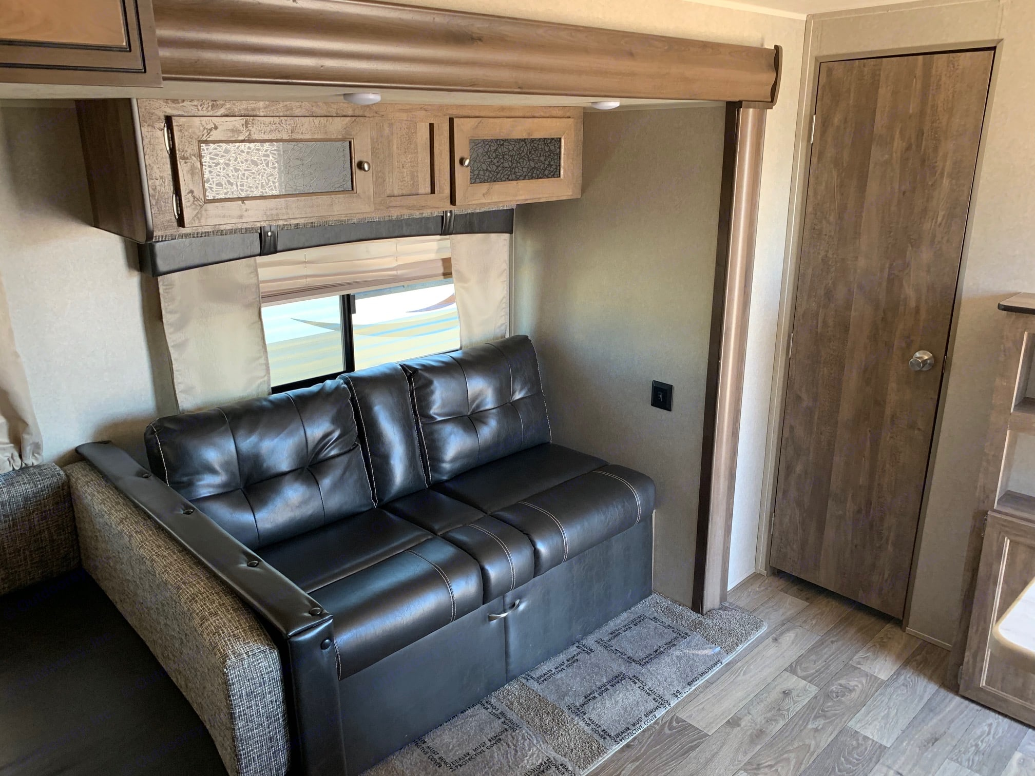 Couch pulls out to full bed. Forest River Puma 2018