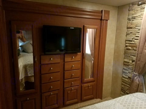 This is part of the master bedroom.. Forest River Georgetown 2011