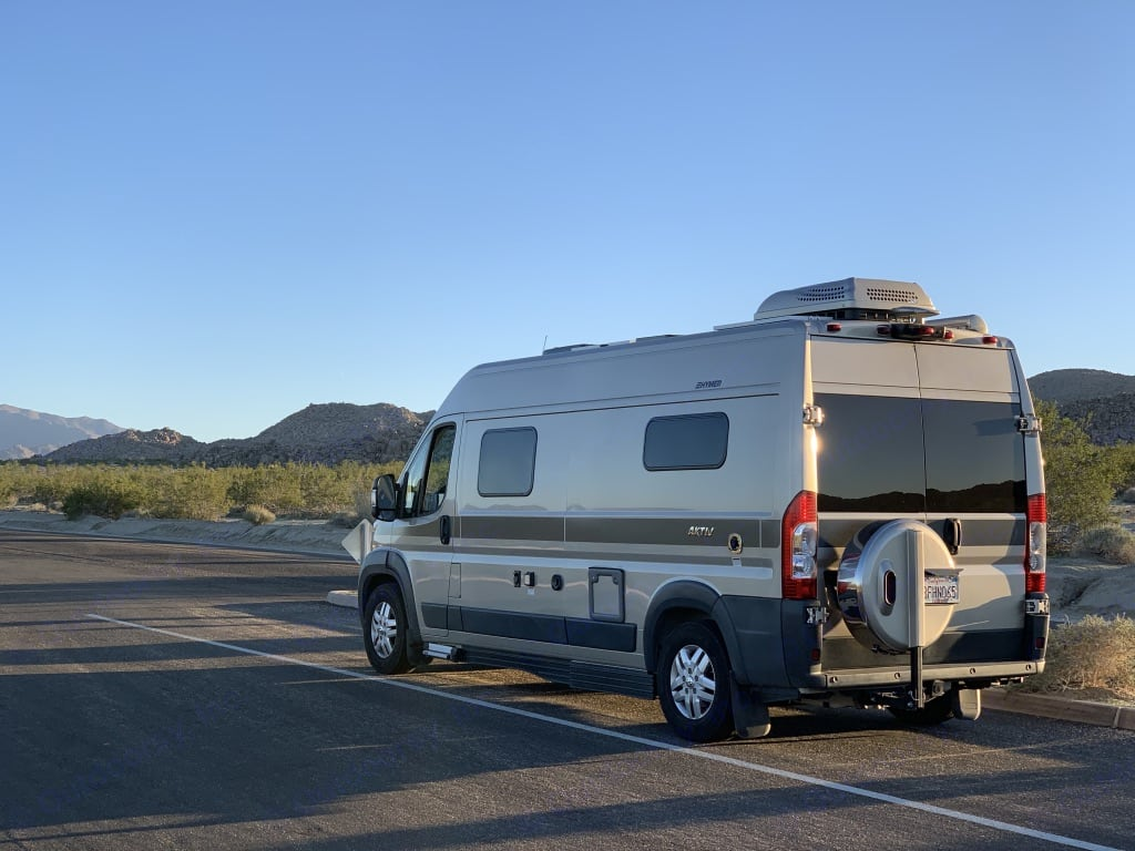 View from behind. Hymer Aktiv 1.0 2018