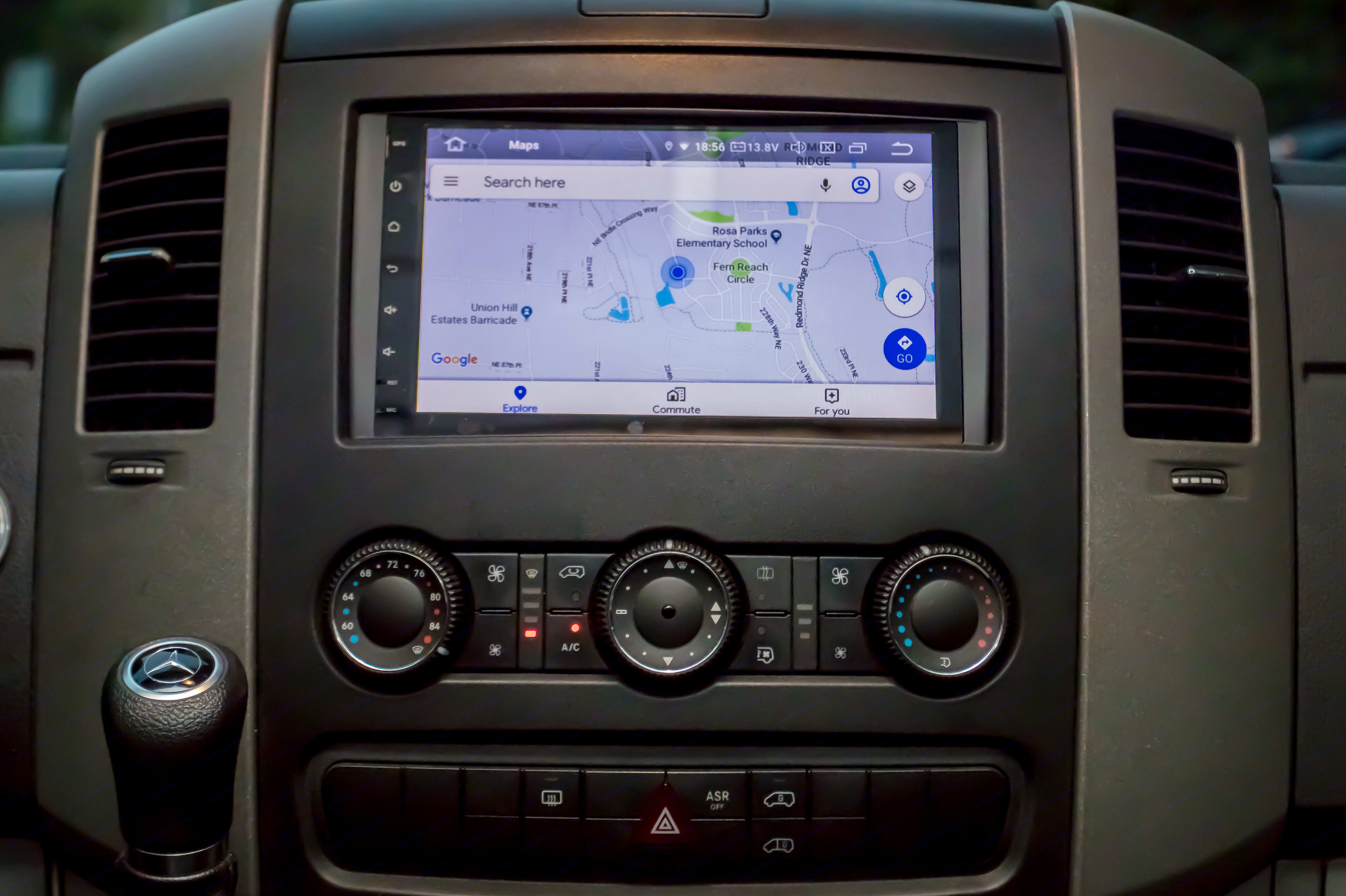 """Large 9"""" GPS/Backup Camera/Android Stereo w Apps. Mercedes-Benz Sprinter 170 EXT 3500 2014"""