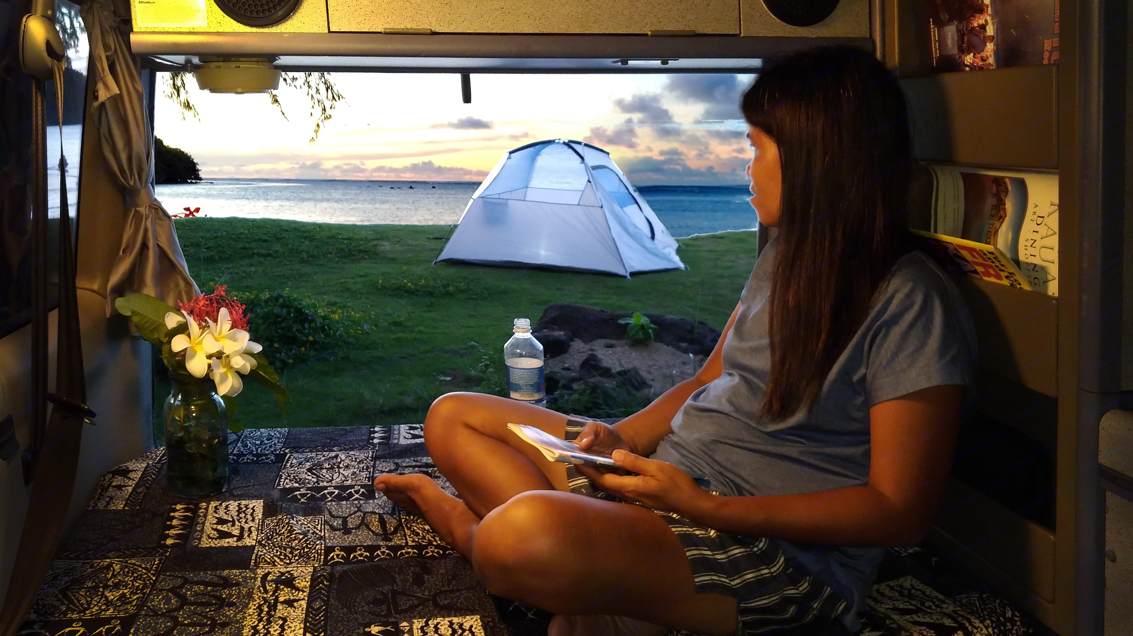 Complimentary tent with the van. If someone wants some privacy.. Volkswagen Westfalia 1992