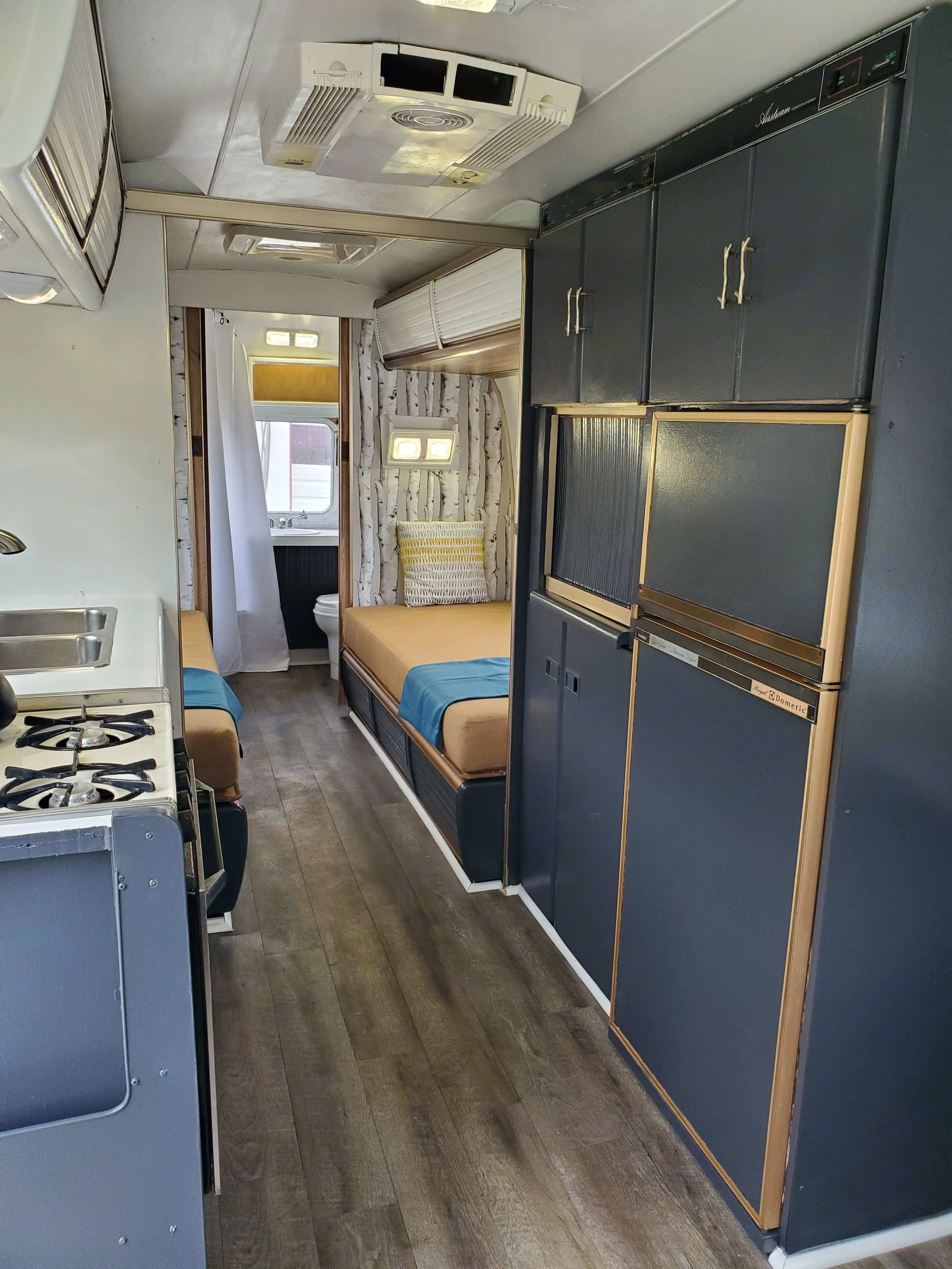 kitchen with microwave. Airstream Excella
