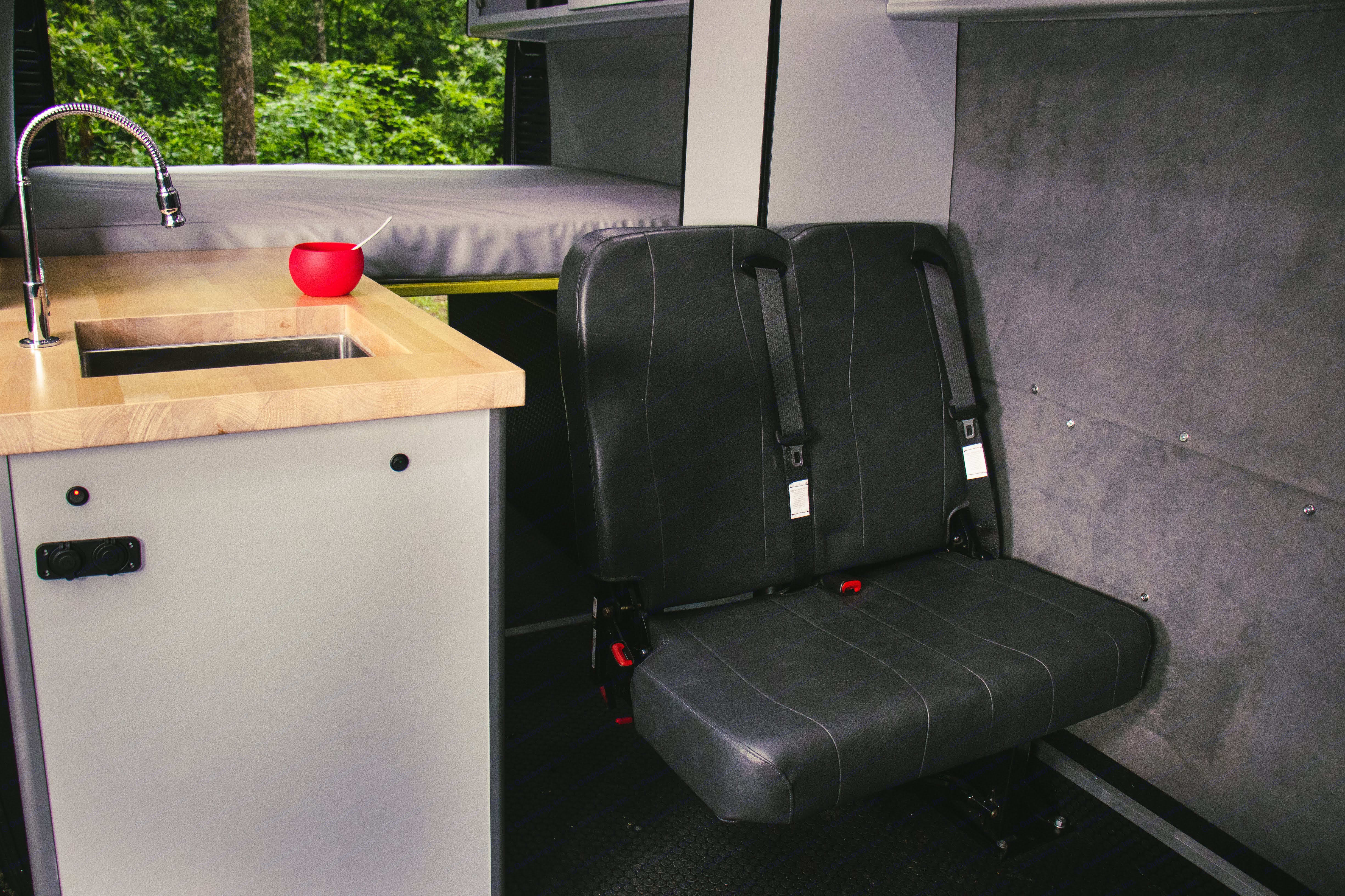 fold away 2 person seat with seat belts/ . Ram Promaster 2500 2018