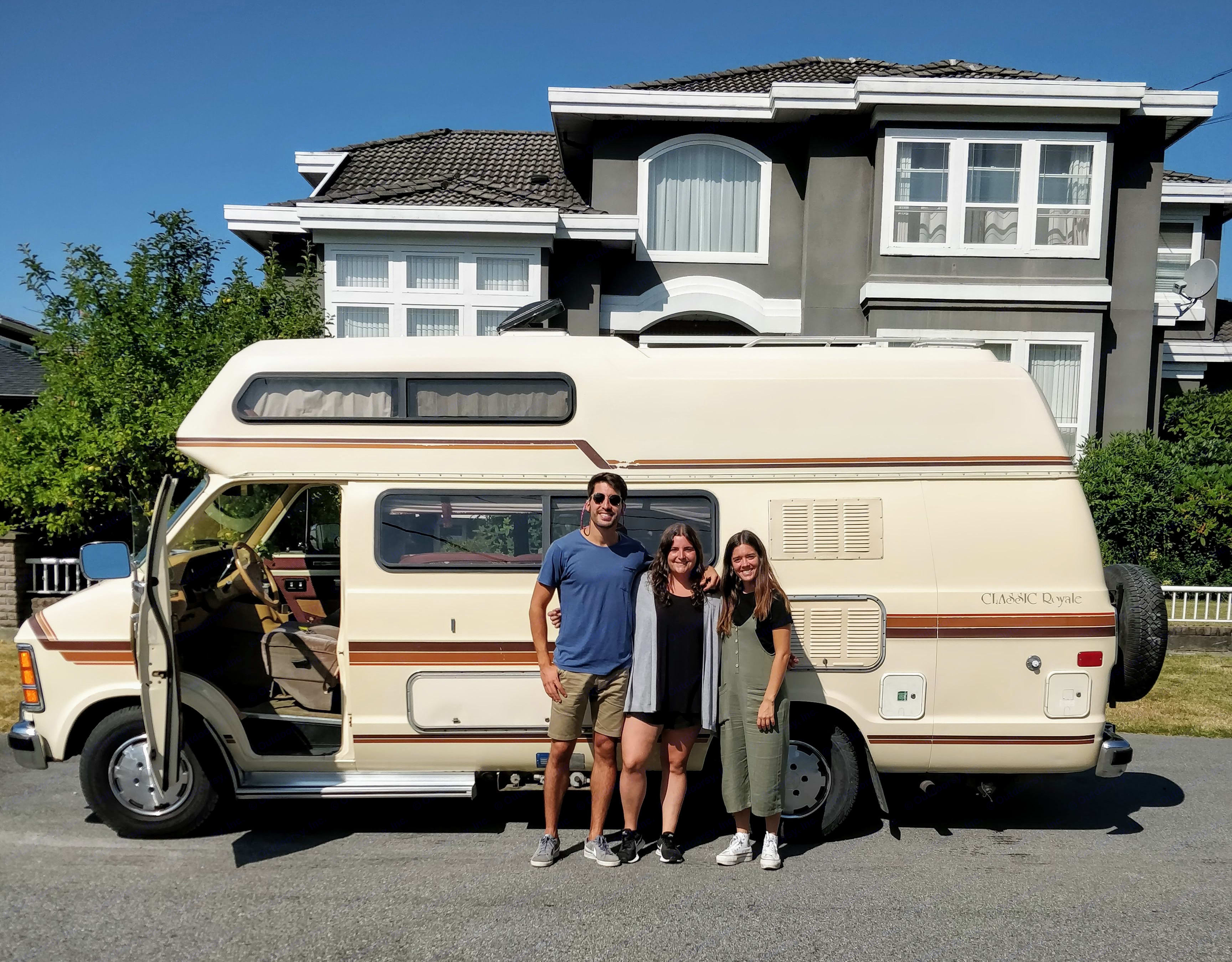 These three came all the way from Spain to explore BC in the Vantasy!. Great West Vans Classic Royale 1988
