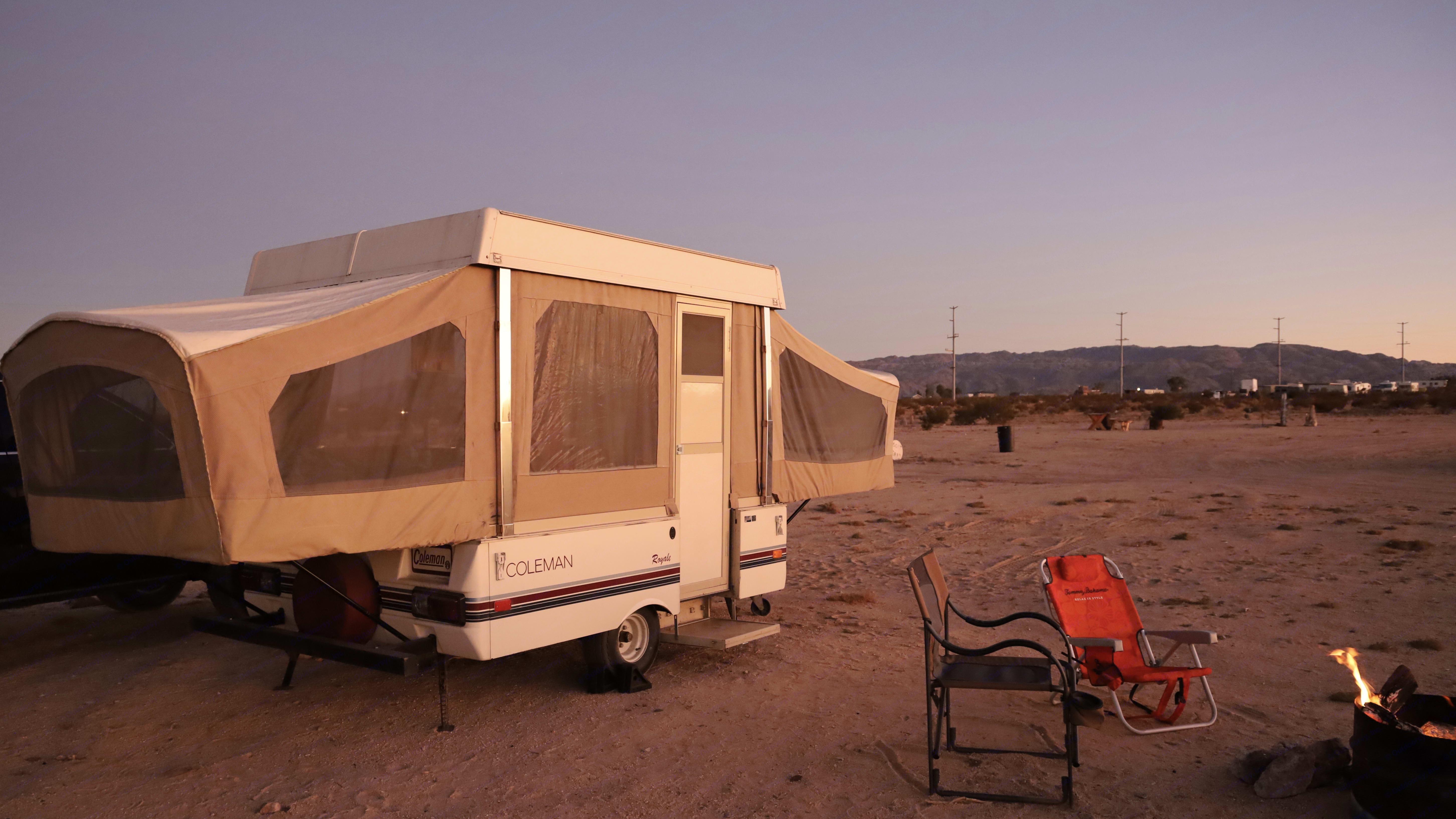 Sunset in the desert. Coleman Royal 1985
