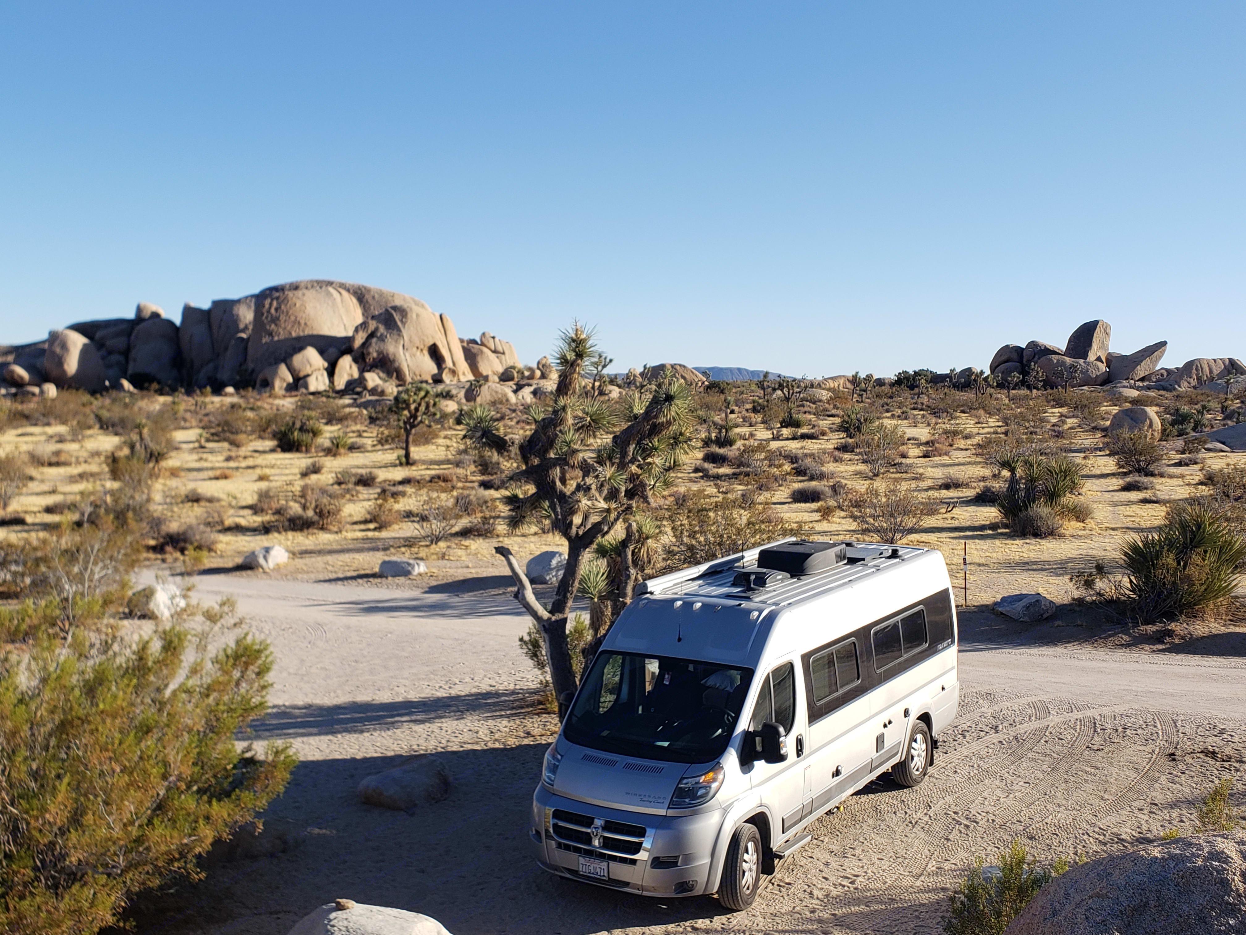 Joshua Tree Belle Campground . Dodge Travato 2017