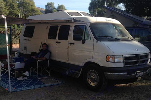 Camped in San Miguel de Allende, Mexico. Roadtrek 190 Popular 1998