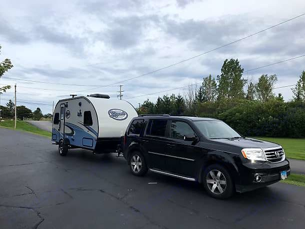 Towed by SUV. Forest River R-Pod 2018
