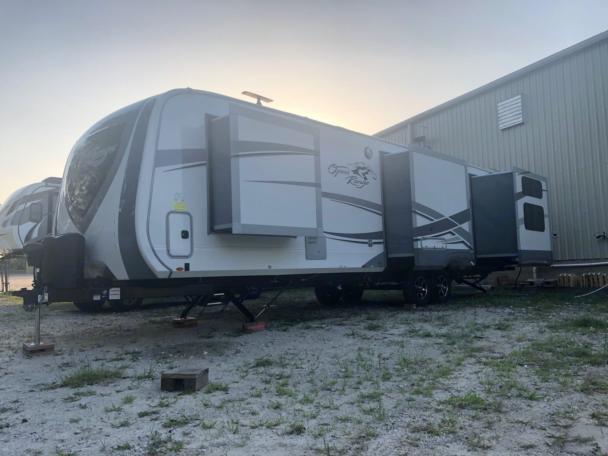 Exterior driver's side with three slides out.. Open Range Open Range 2019