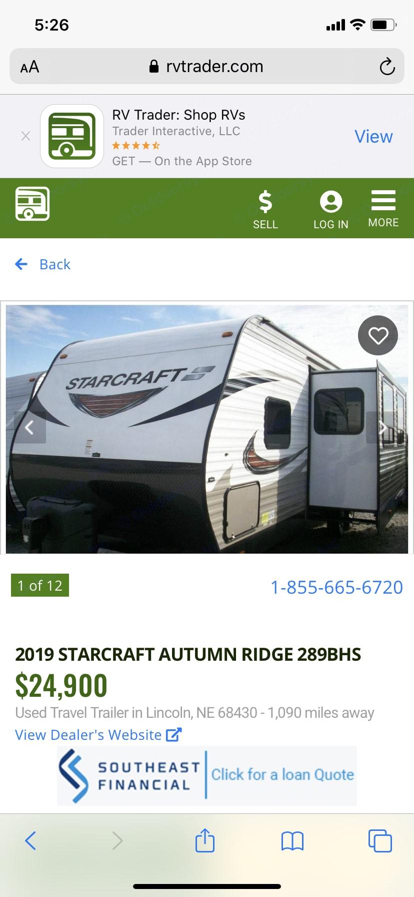 Starcraft Autumn Ridge 2015