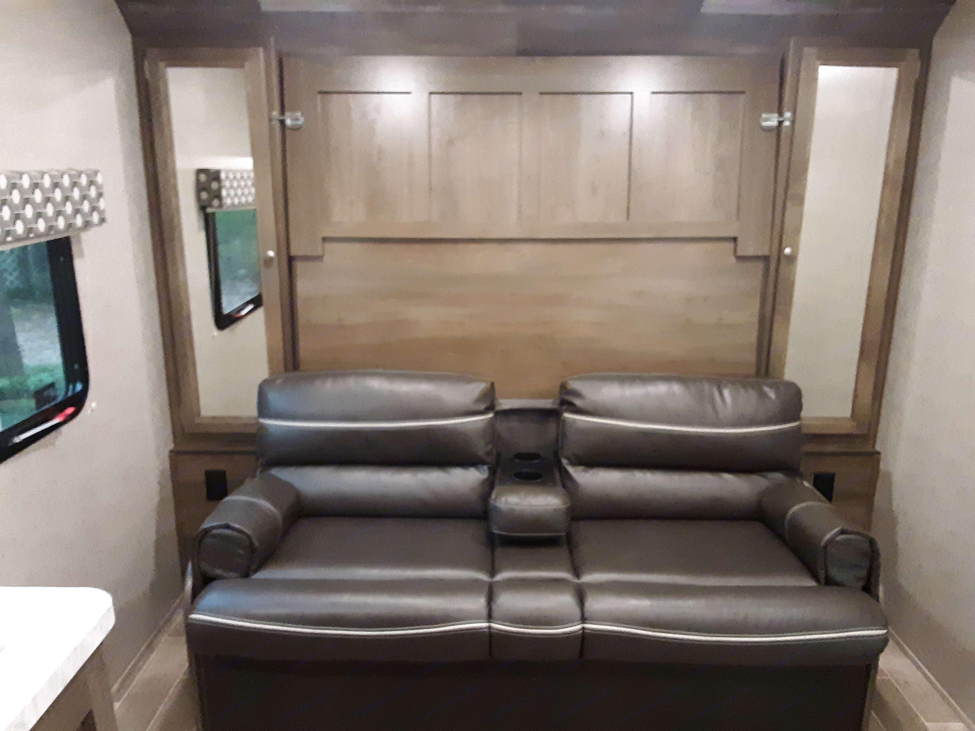 Comfy couch. Dutchmen Coleman 2019