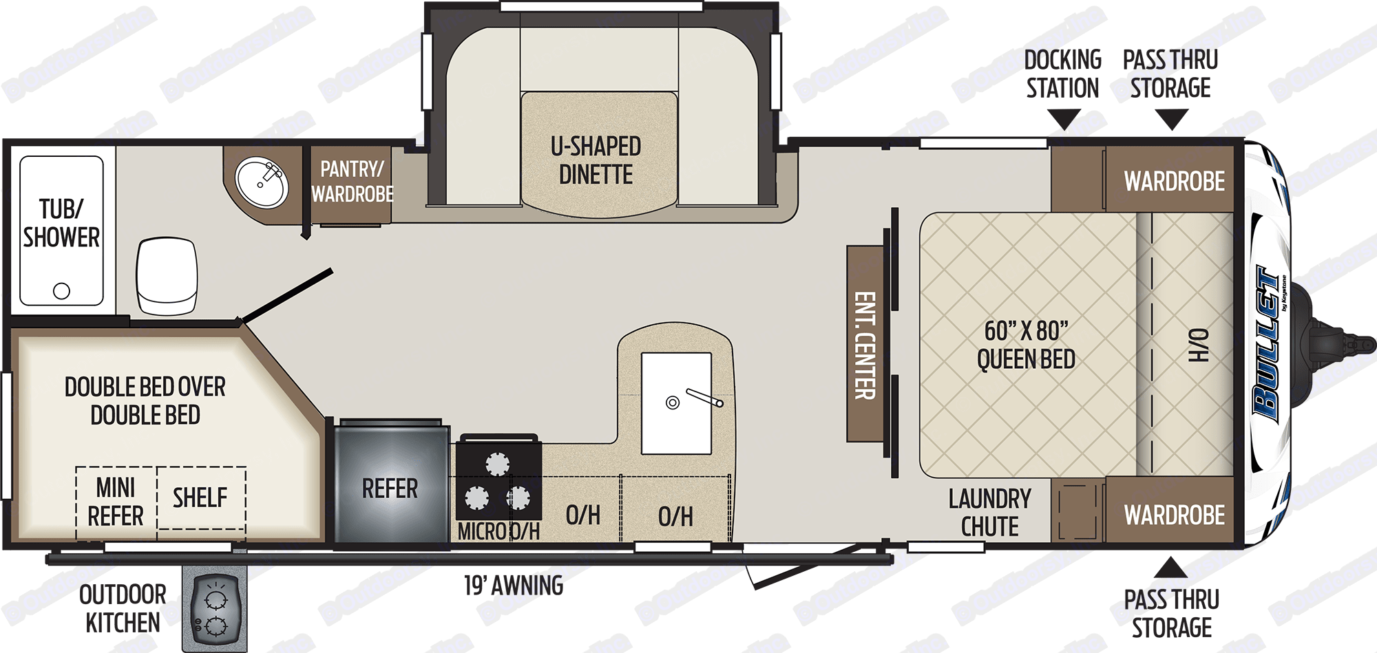 Interior Layout. Keystone Bullet 2018