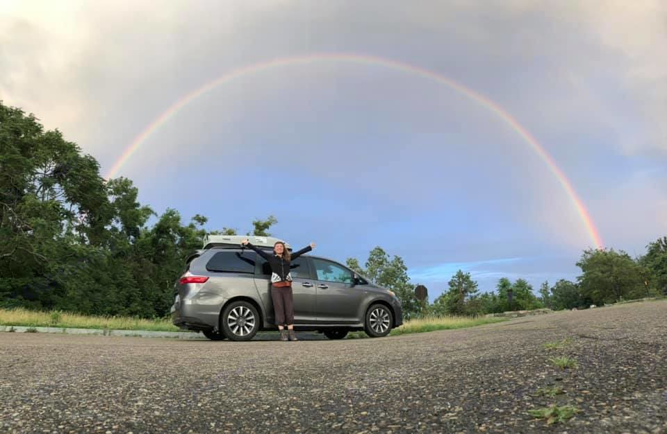 The Chariot over the rainbow. Toyota Sienna 2018