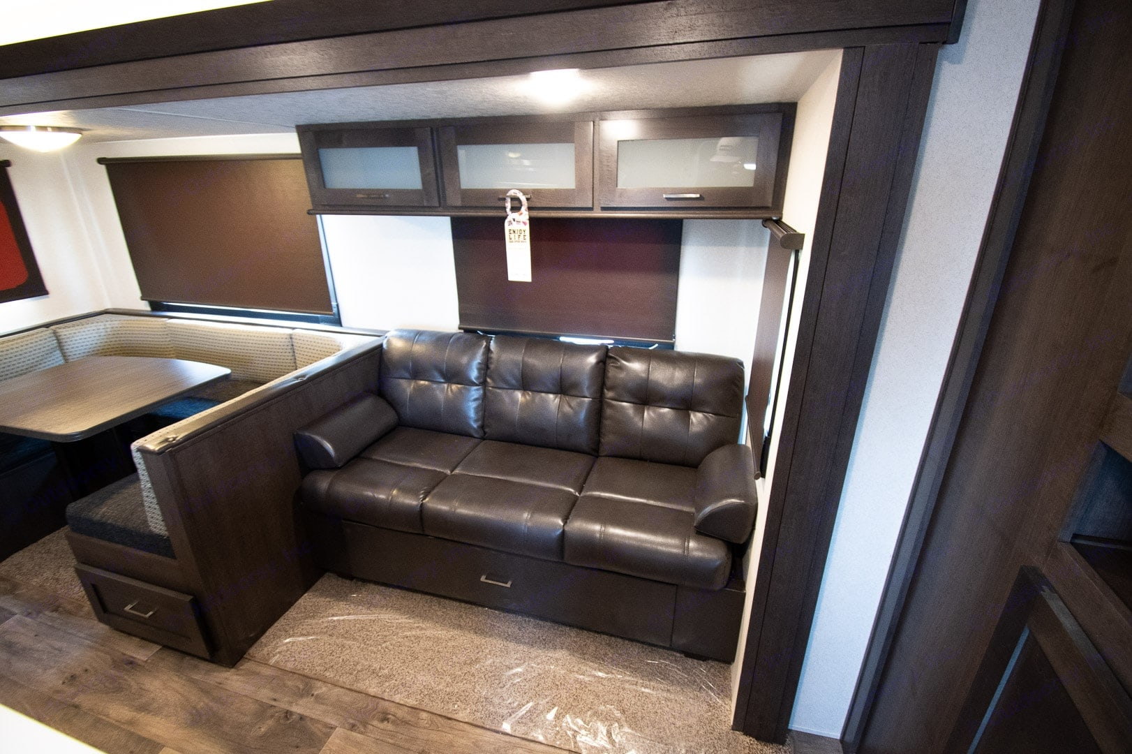 Inside couch and dinette. Forest River Salem 2018