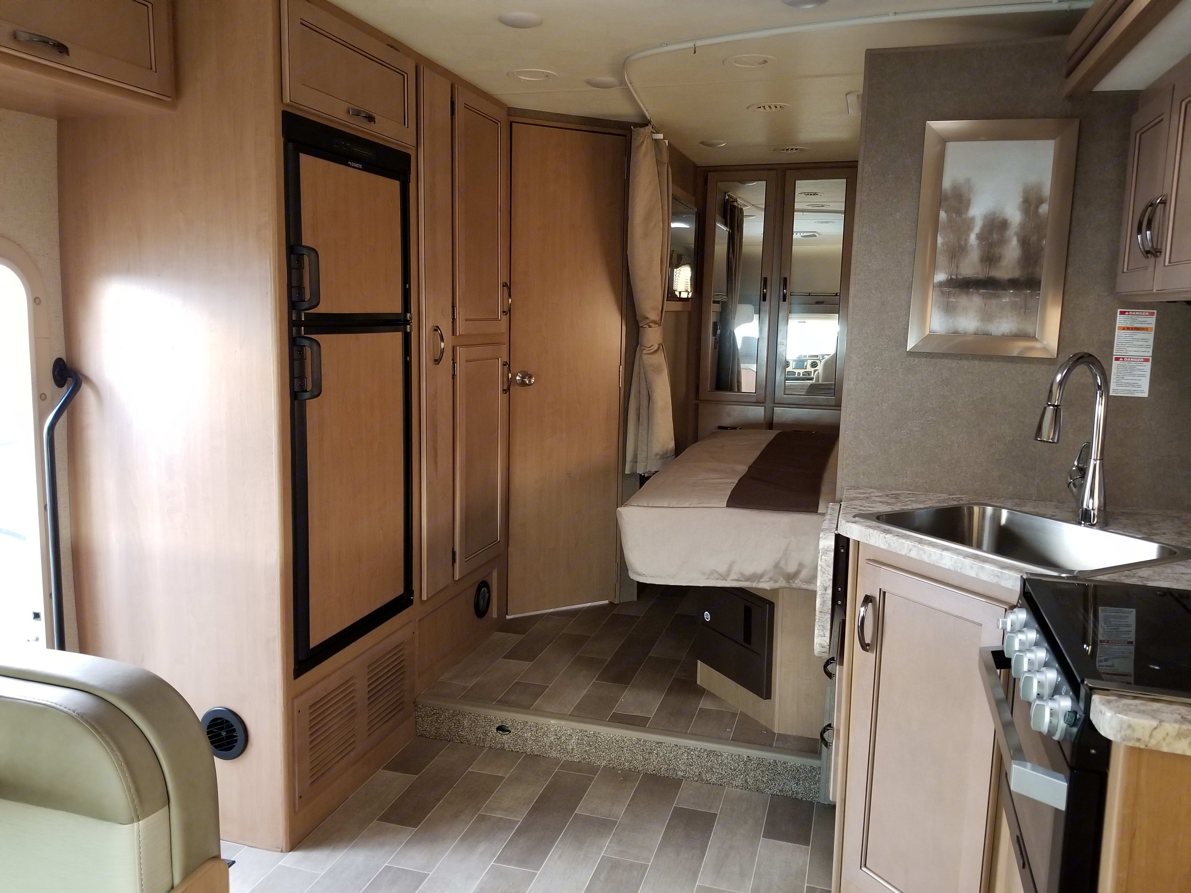 Plenty of cabinet space for food and supplies.. Thor Motor Coach Chateau 2020