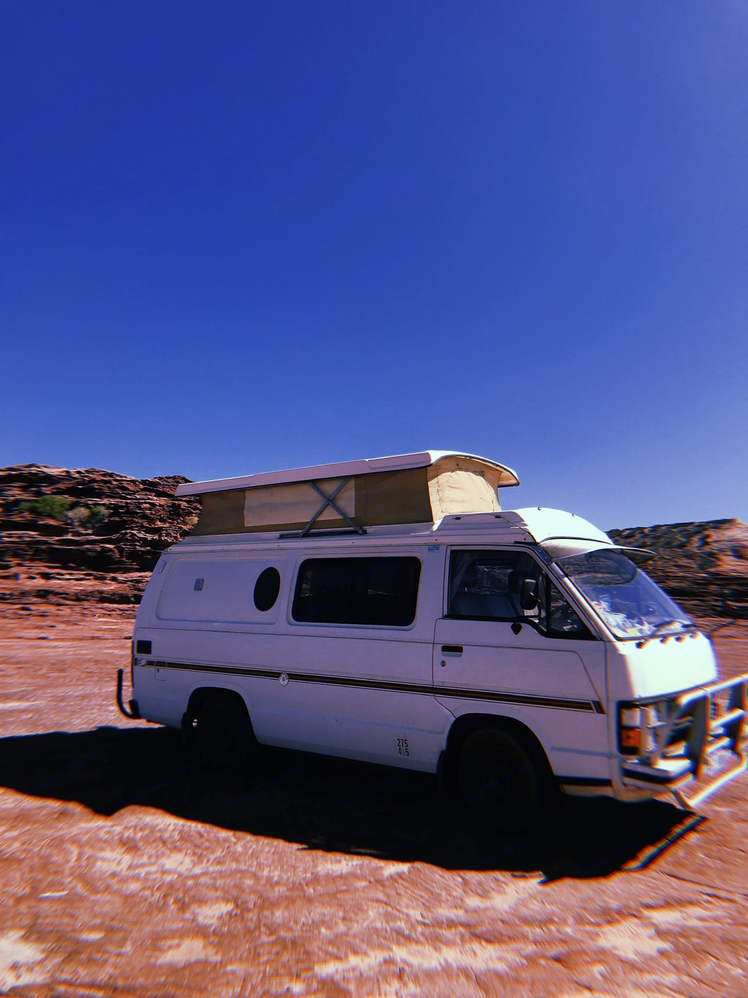 Cruise into the Aussie lifestyle with this iconic camper . Toyota Hiace 1985