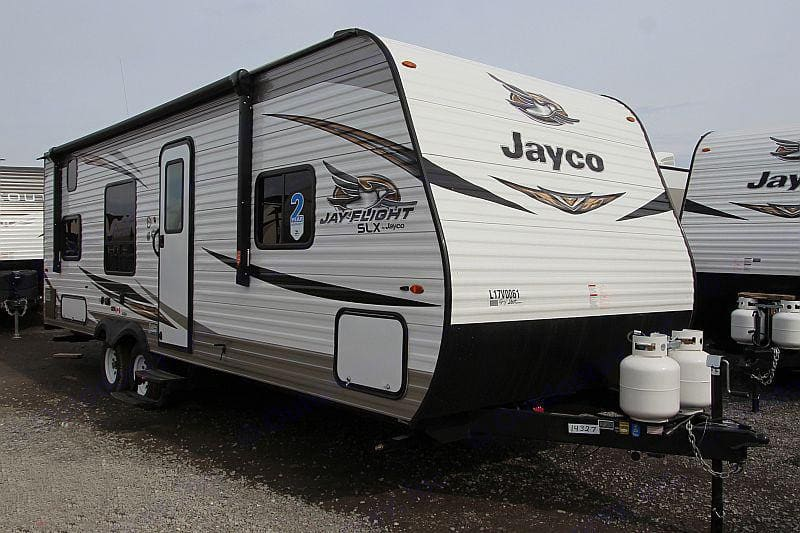 Out new Glamping BNB1.  The powered awning is equipped with LED lights and speakers!. Jayco Jay Flight 2020