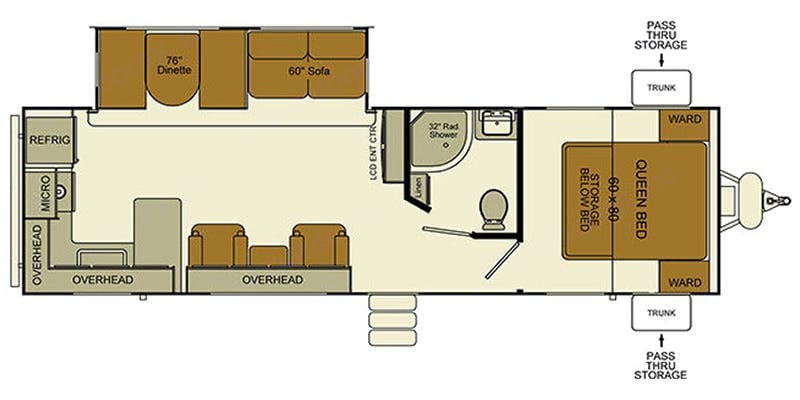 Floorplan. Evergreen Sun Valley I-GO Travel Trailer  Delivery Available 2016