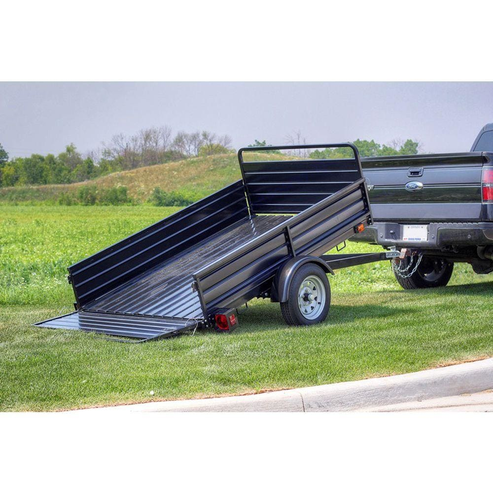 Detail K2 Utility Trailer with Bed Tilt and Collapsing Ends to Extend Bed to 12 ft. 2019