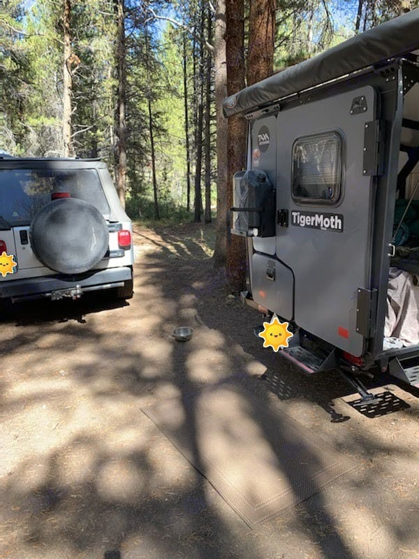 Our setup. TAXA Outdoors Tigermoth Camper 2019