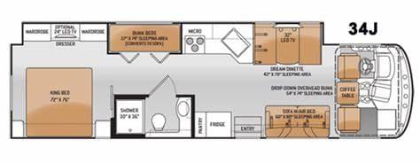 RV floor plan. Thor Motor Coach Windsport 2016
