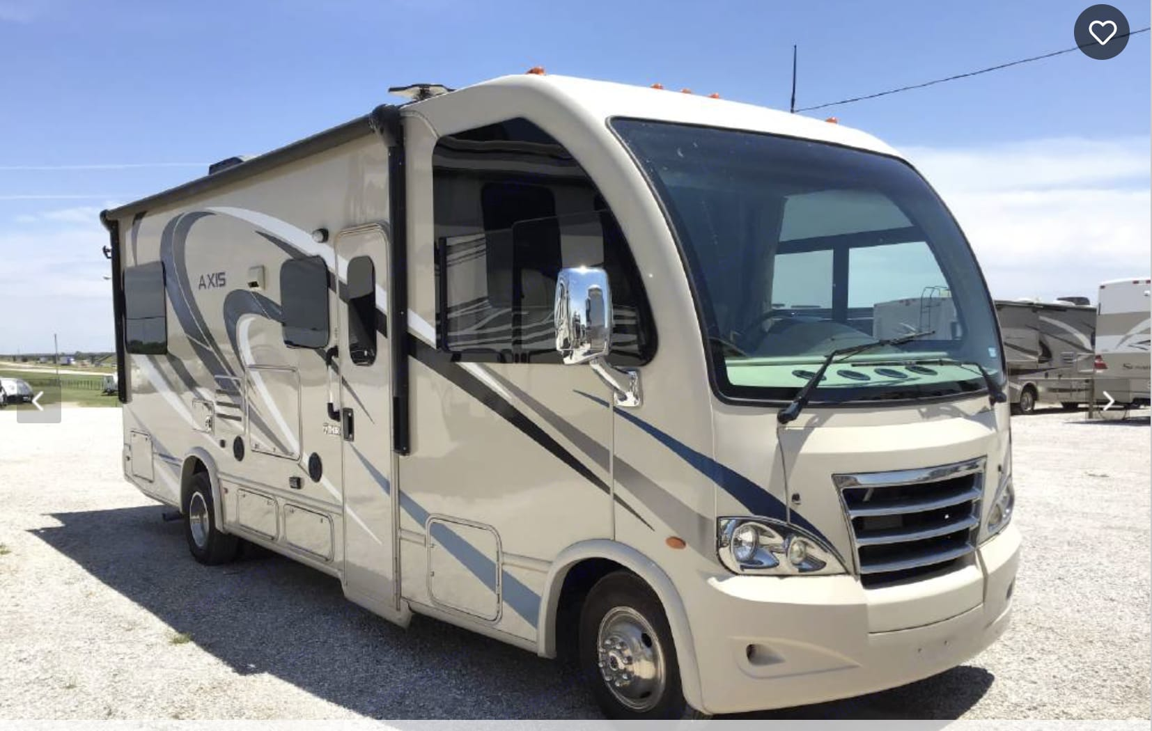 Military-grade SEALANT in TIRES lowers risk of blowouts.  Low miles, like new.. Thor Motor Coach Axis 2017