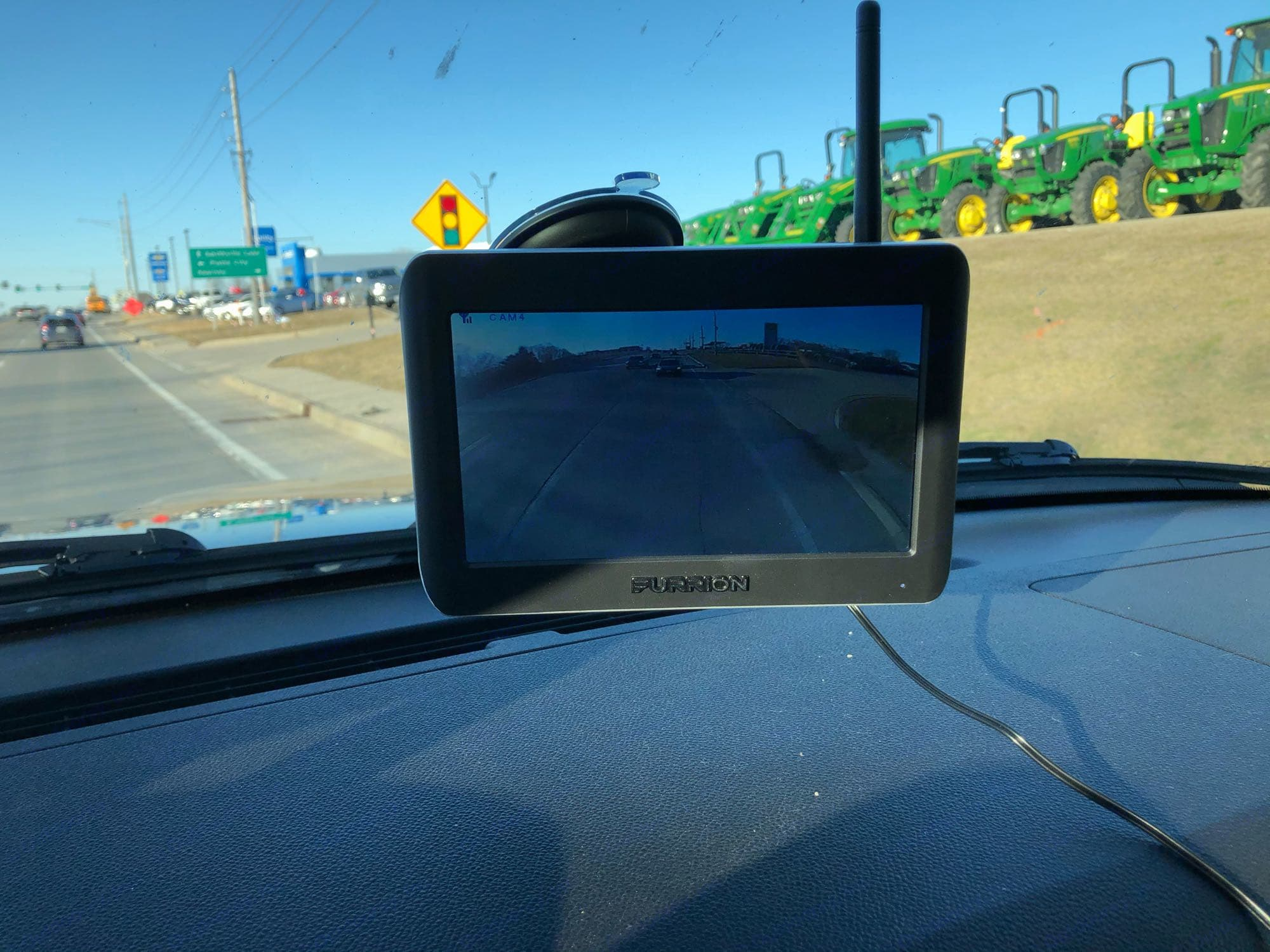 Wireless backup camera makes changing lanes much easier.. Heartland Mallard M27 2020