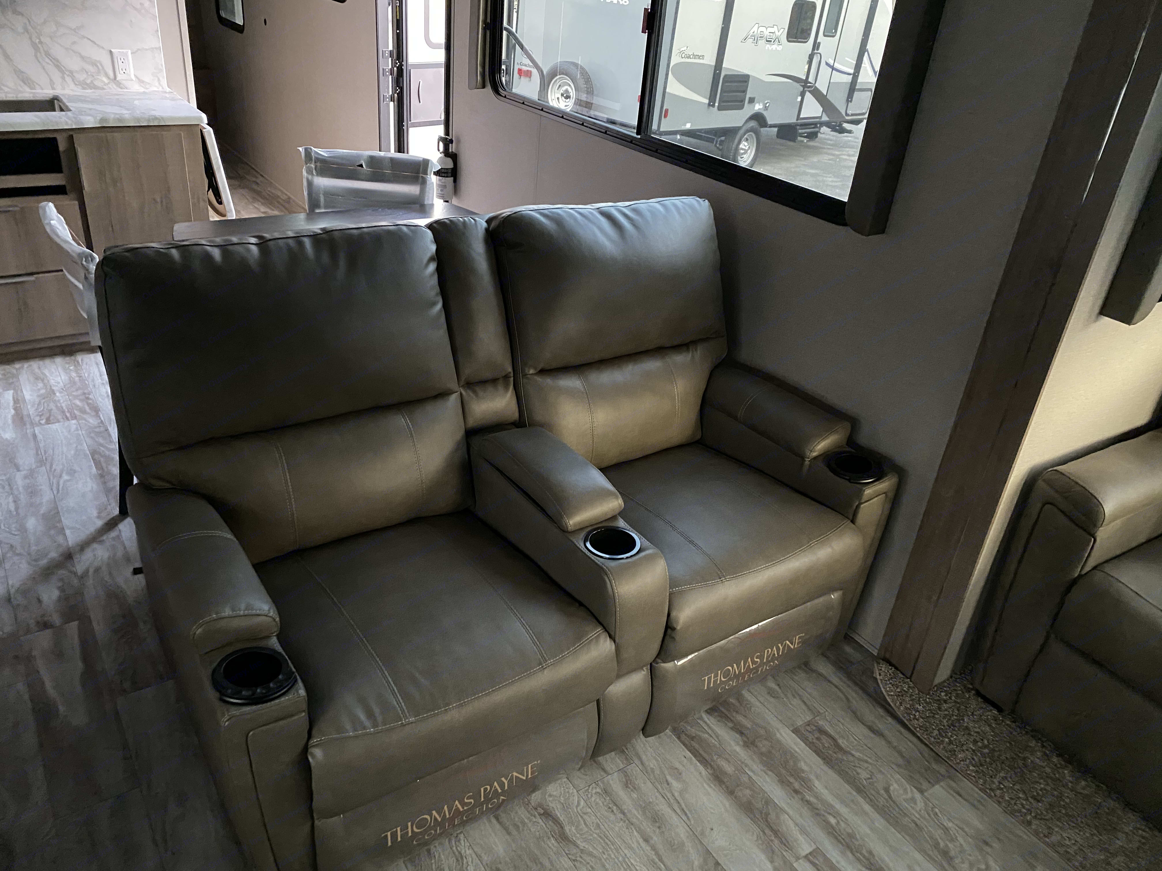 Theater Recliners with Heat and Massage!. Grand Design Imagine 3100RD 2020
