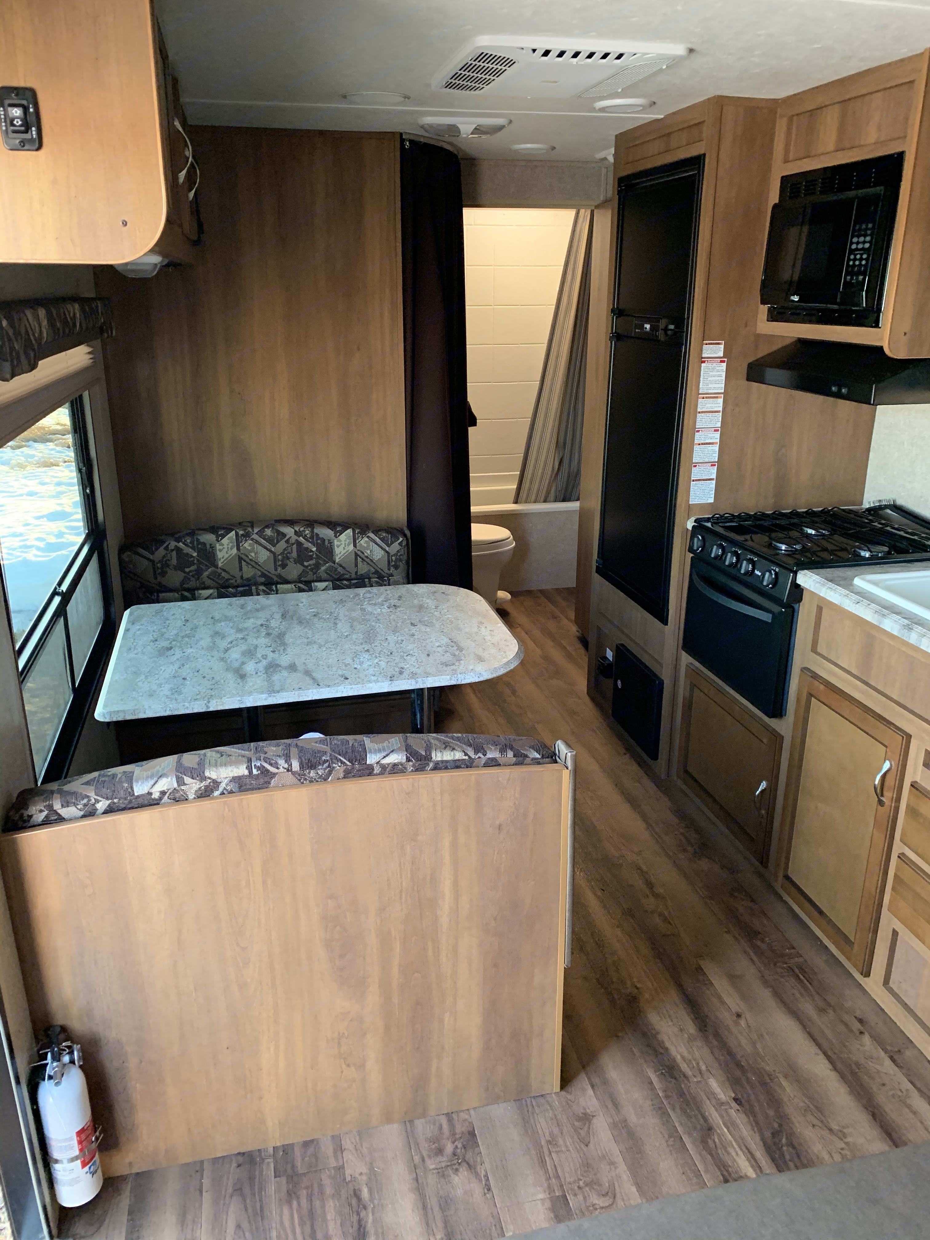 Spacious kitchen area. Coachmen Catalina 2017