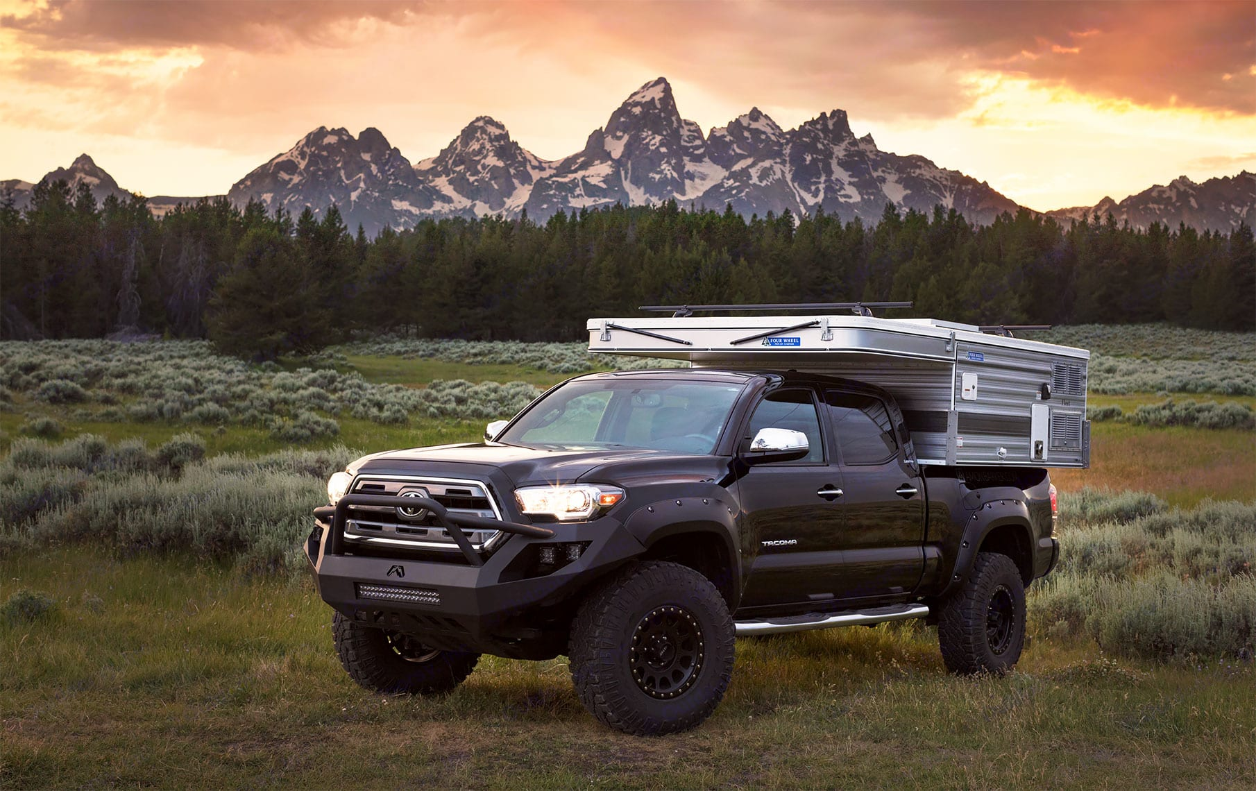The rig in Grand Teton National Park. Four Wheel Campers Fleet 2016