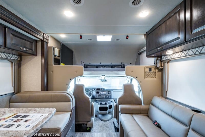 Dinette to Front. Thor Motor Coach Four Winds 2020