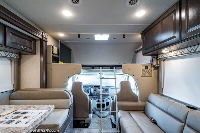 Dinette to Front, Ladder down. Thor Motor Coach Four Winds 2020