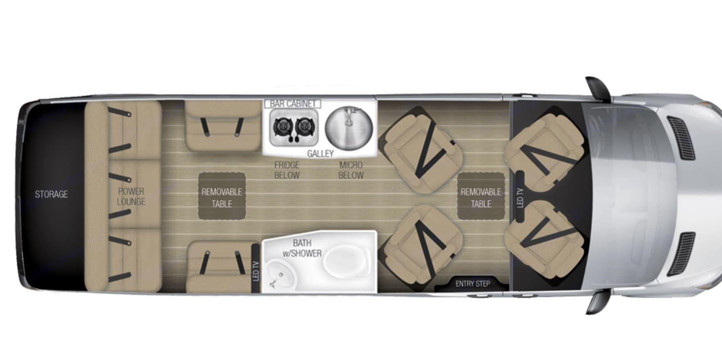 Floor plan. Airstream Sprinter 2018
